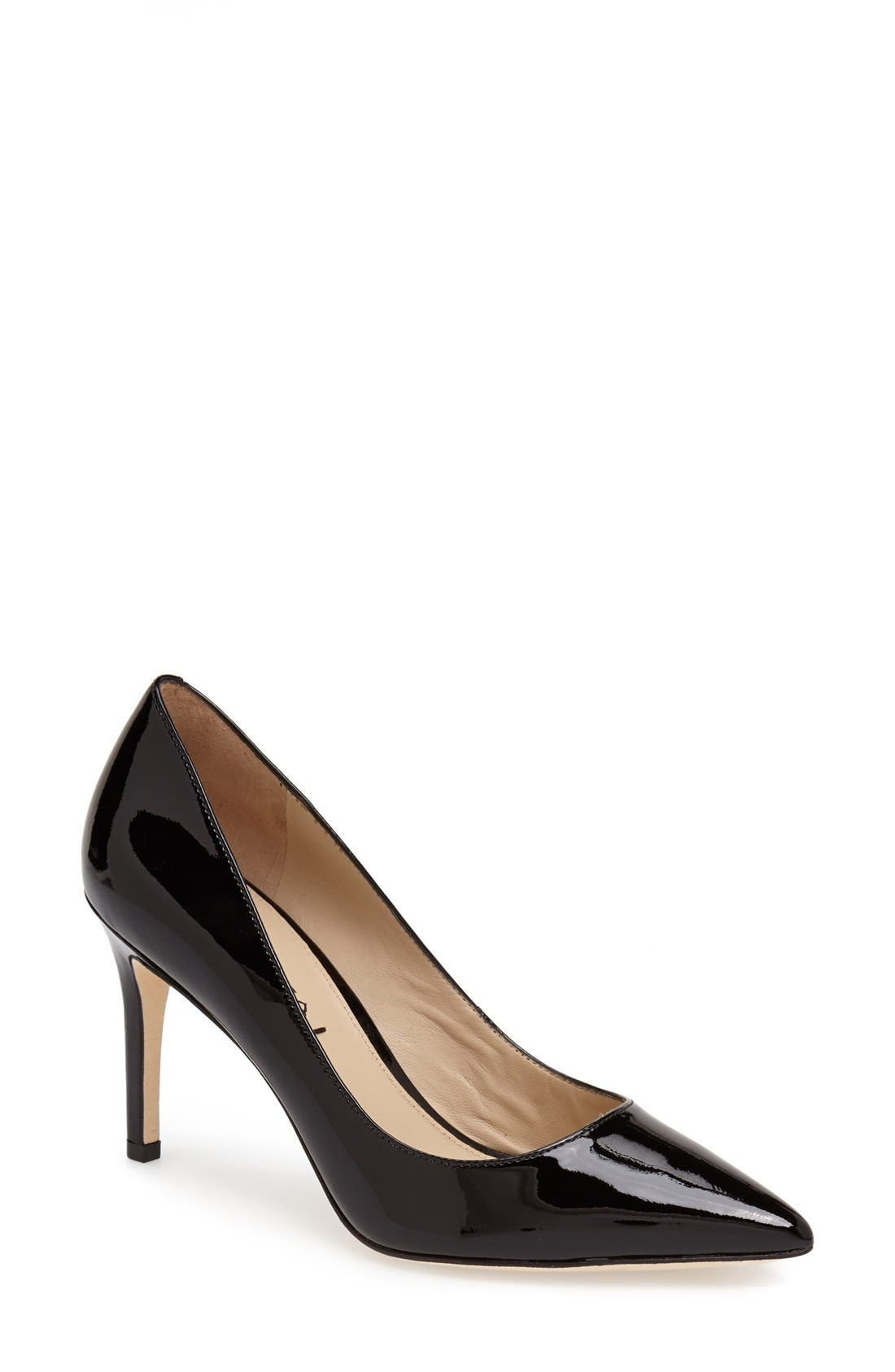 'Carola' Pointy Toe Pump,                             Main thumbnail 1, color,                             001