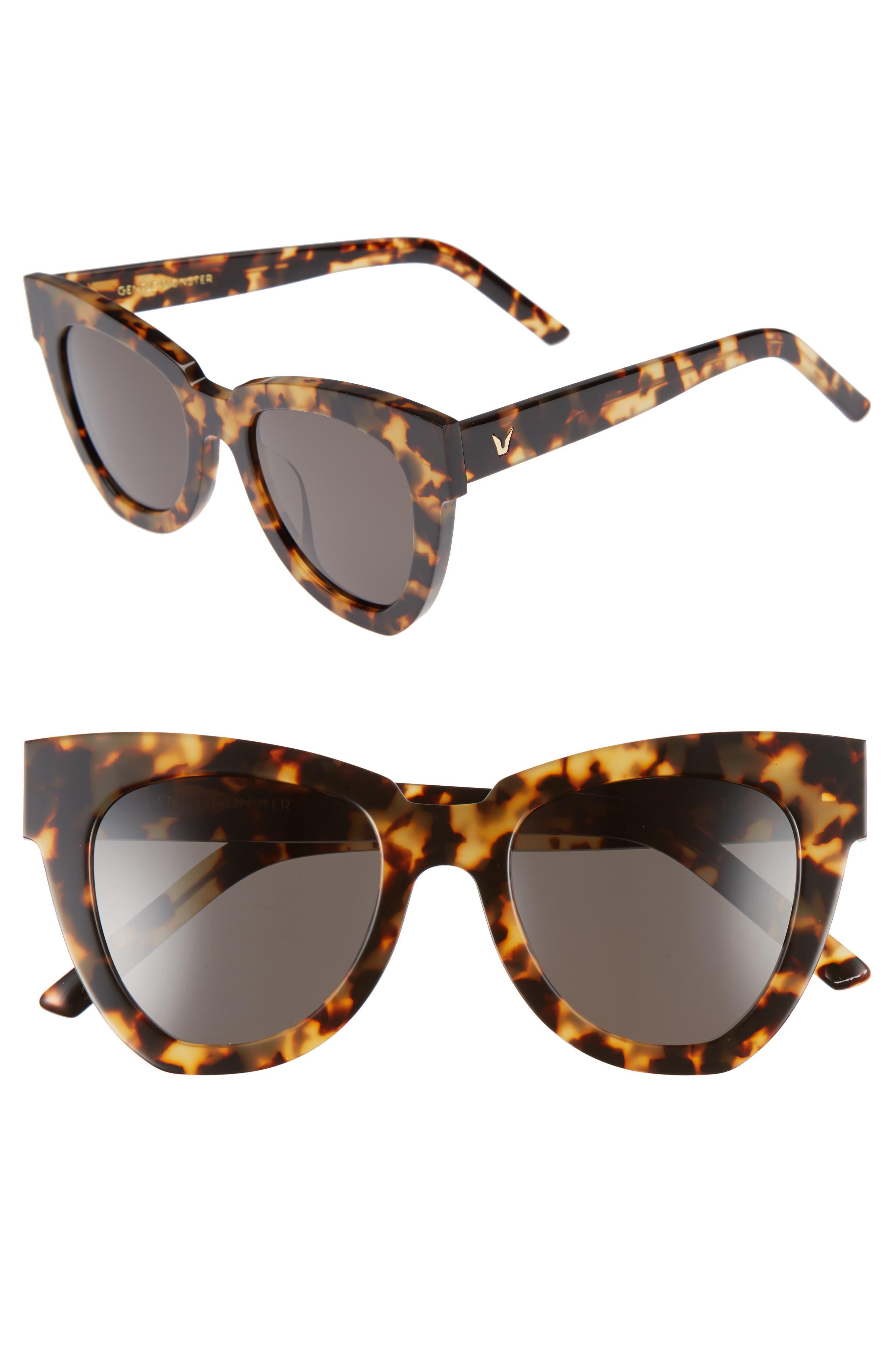 Laser 51mm Cat Eye Sunglasses,                             Main thumbnail 3, color,