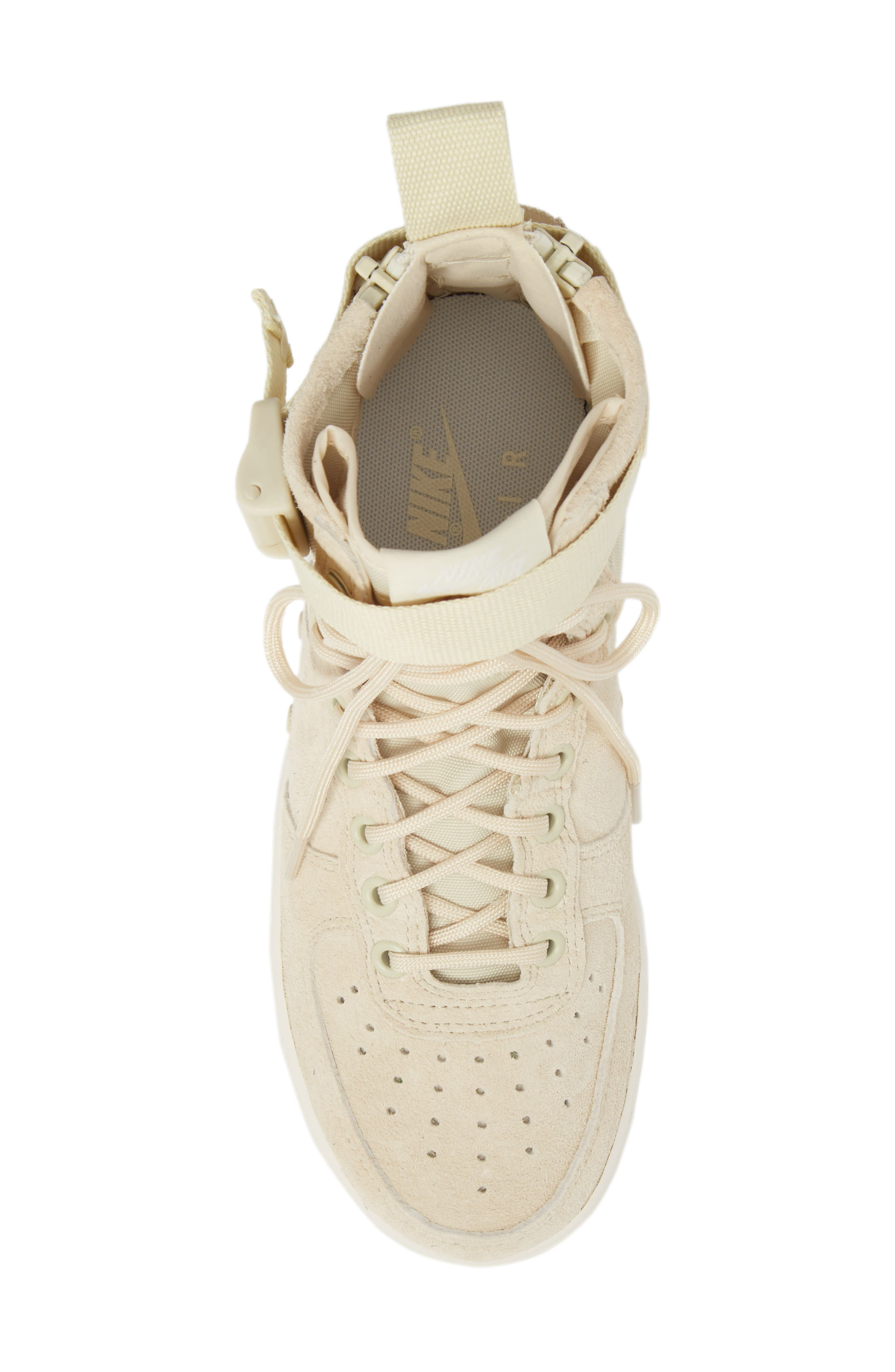 SF Air Force 1 Mid Sneaker,                             Alternate thumbnail 5, color,                             FOSSIL/ SAIL