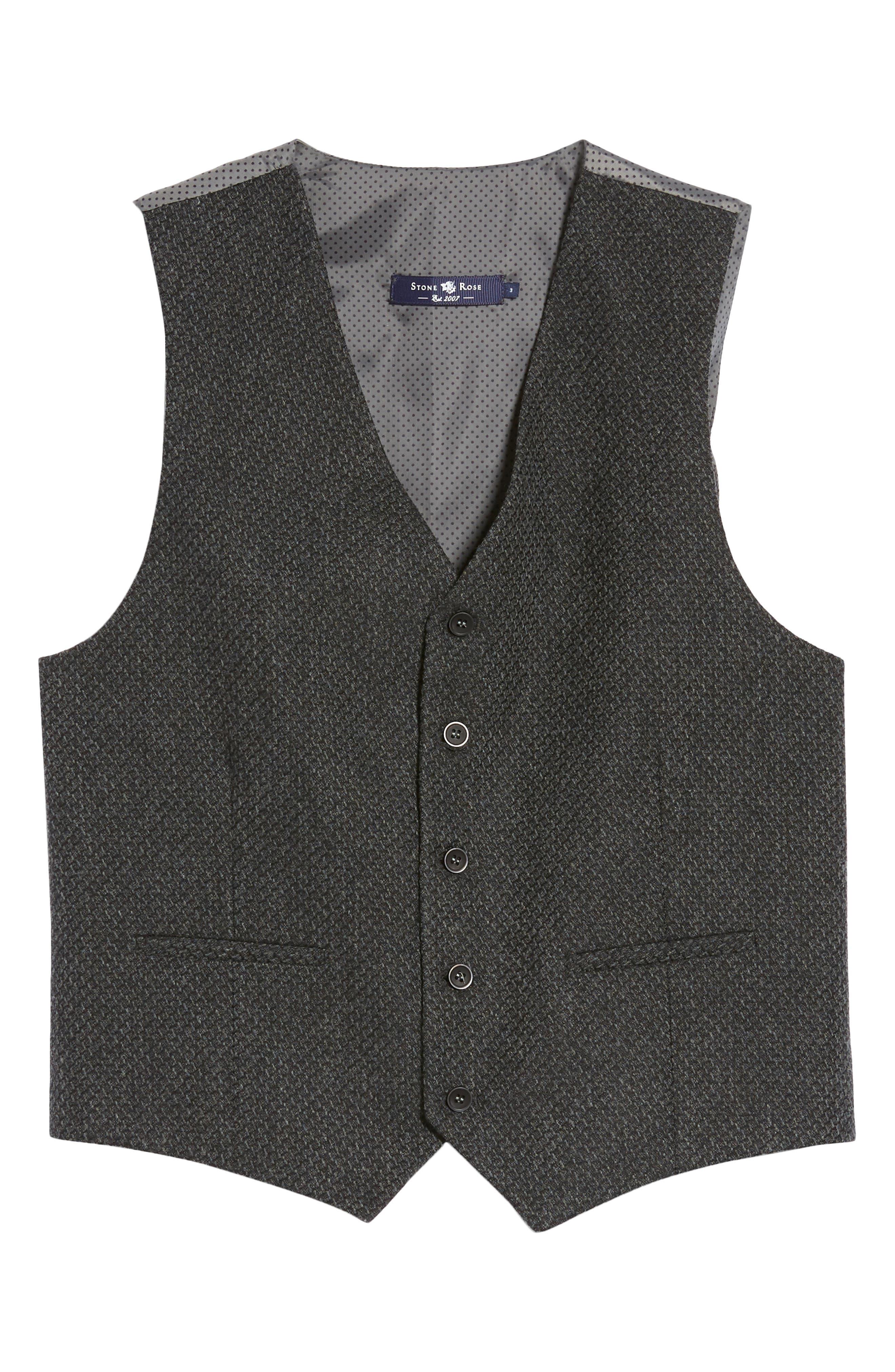 Textured Wool Blend Vest,                             Alternate thumbnail 5, color,                             020