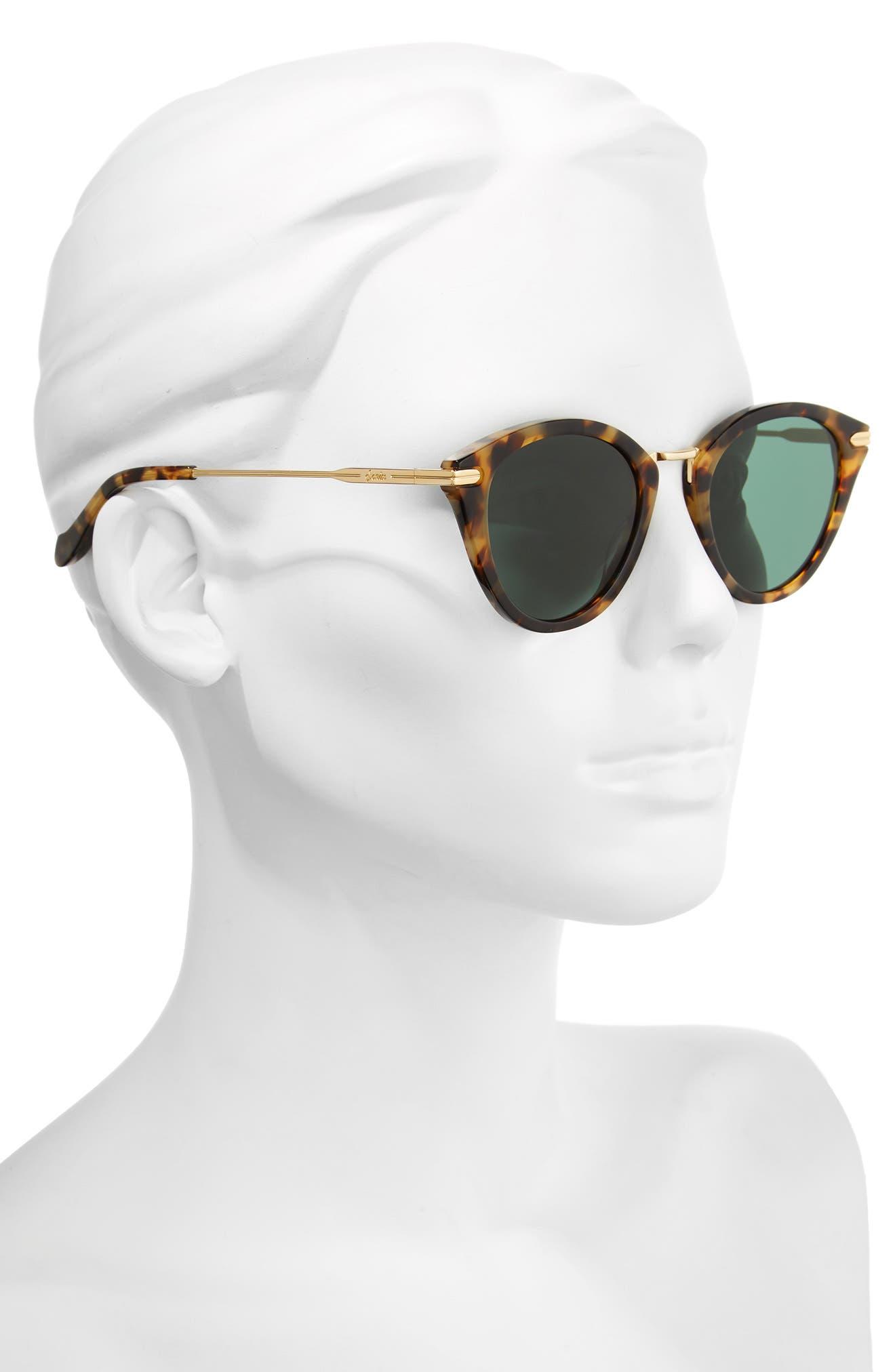 Quinn 48mm Cat Eye Sunglasses,                             Alternate thumbnail 7, color,
