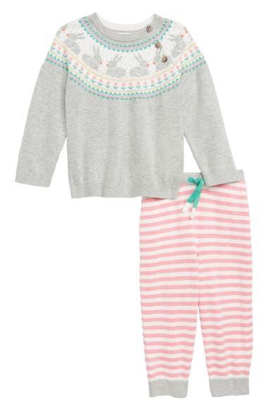 72777ea7b Mini Boden Fun Fair Isle Knit Sweater   Pants Set (Baby Girls ...
