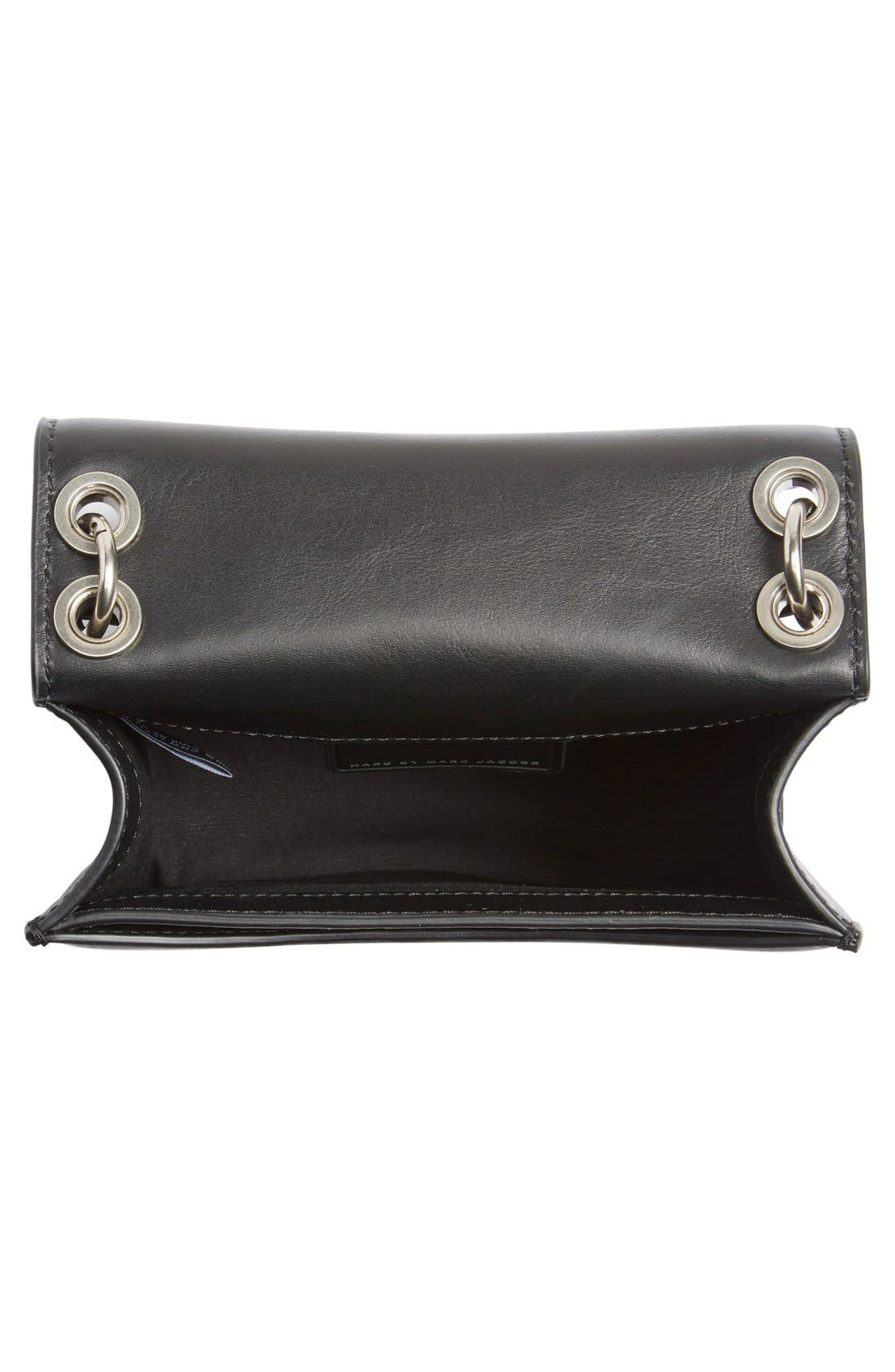 MARC JACOBS,                             MARC BY MARC JACOBS 'The Box' Crossbody Bag,                             Alternate thumbnail 4, color,                             001