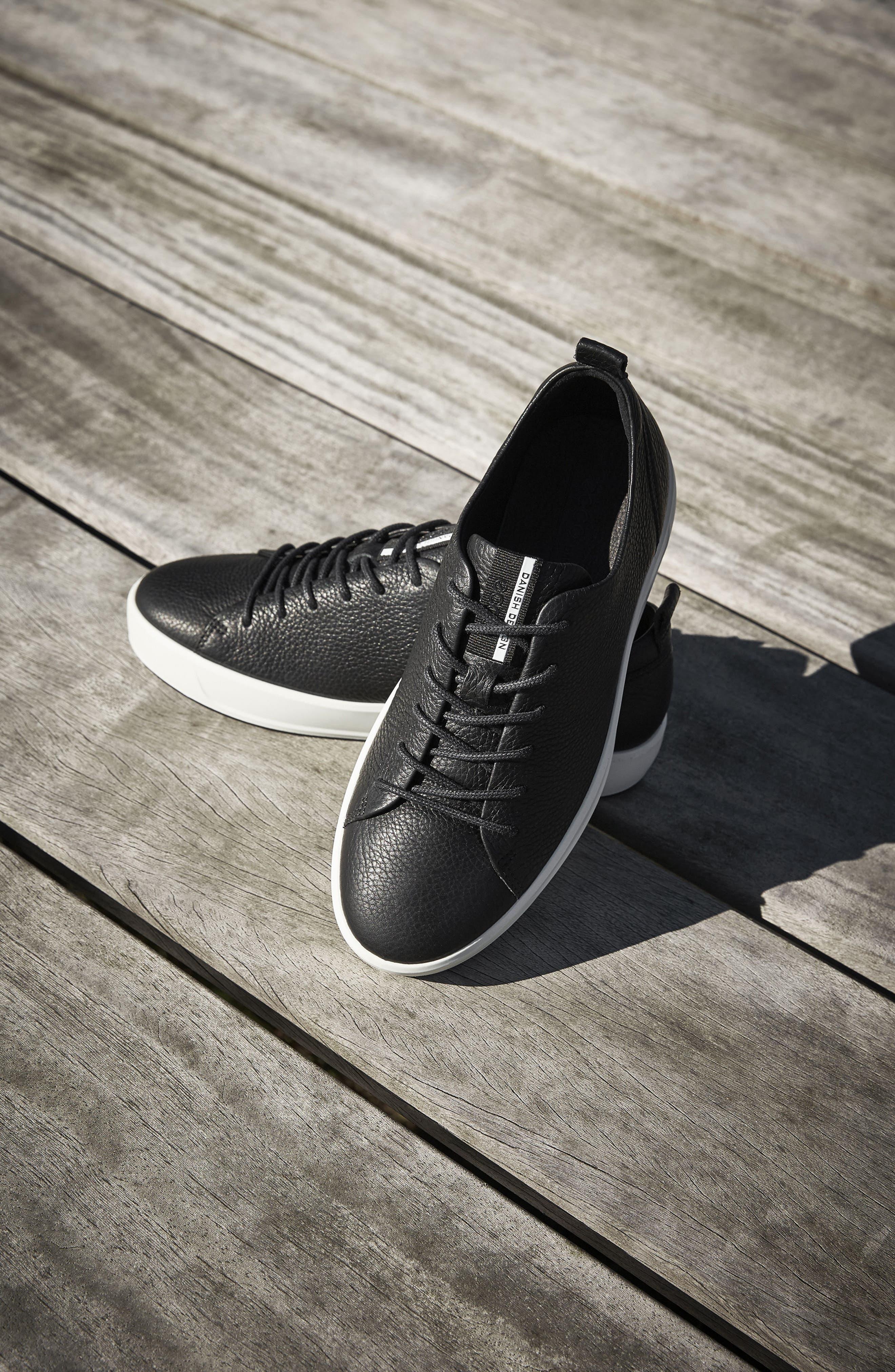 Soft 8 Sneaker,                             Alternate thumbnail 6, color,                             BLACK