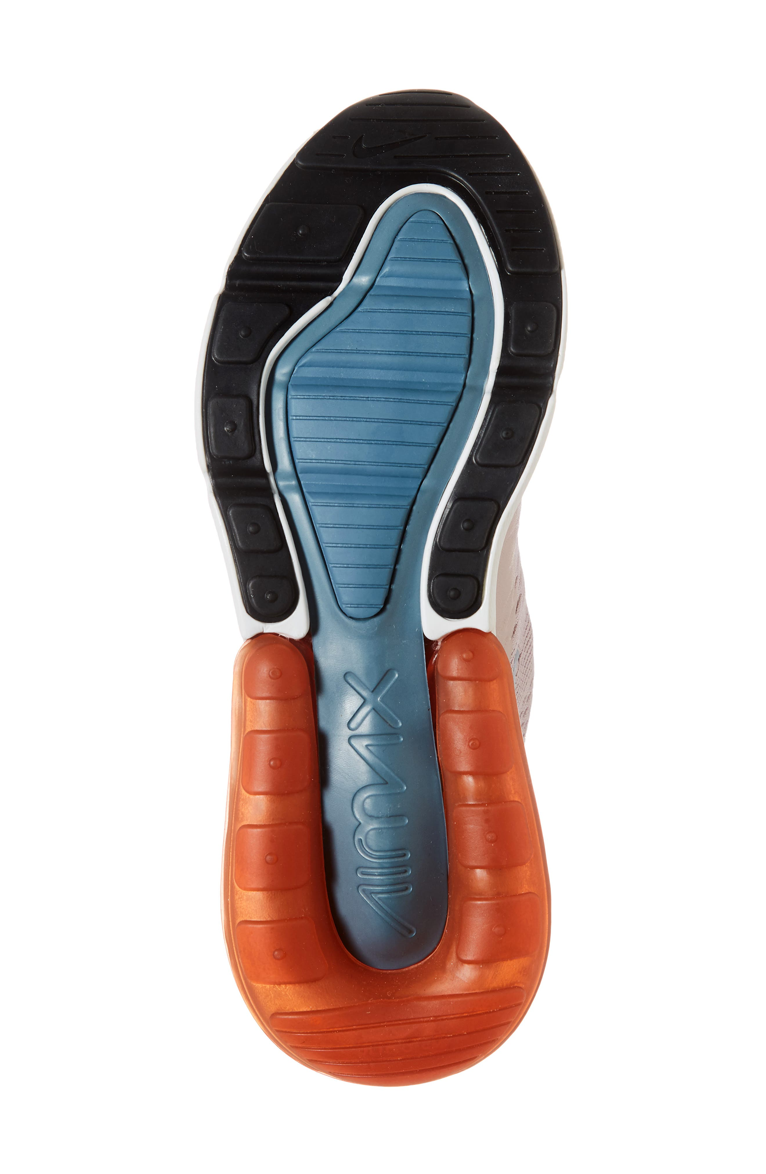 Air Max 270 Premium Sneaker,                             Alternate thumbnail 6, color,                             PARTICLE ROSE/ CELESTIAL TEAL