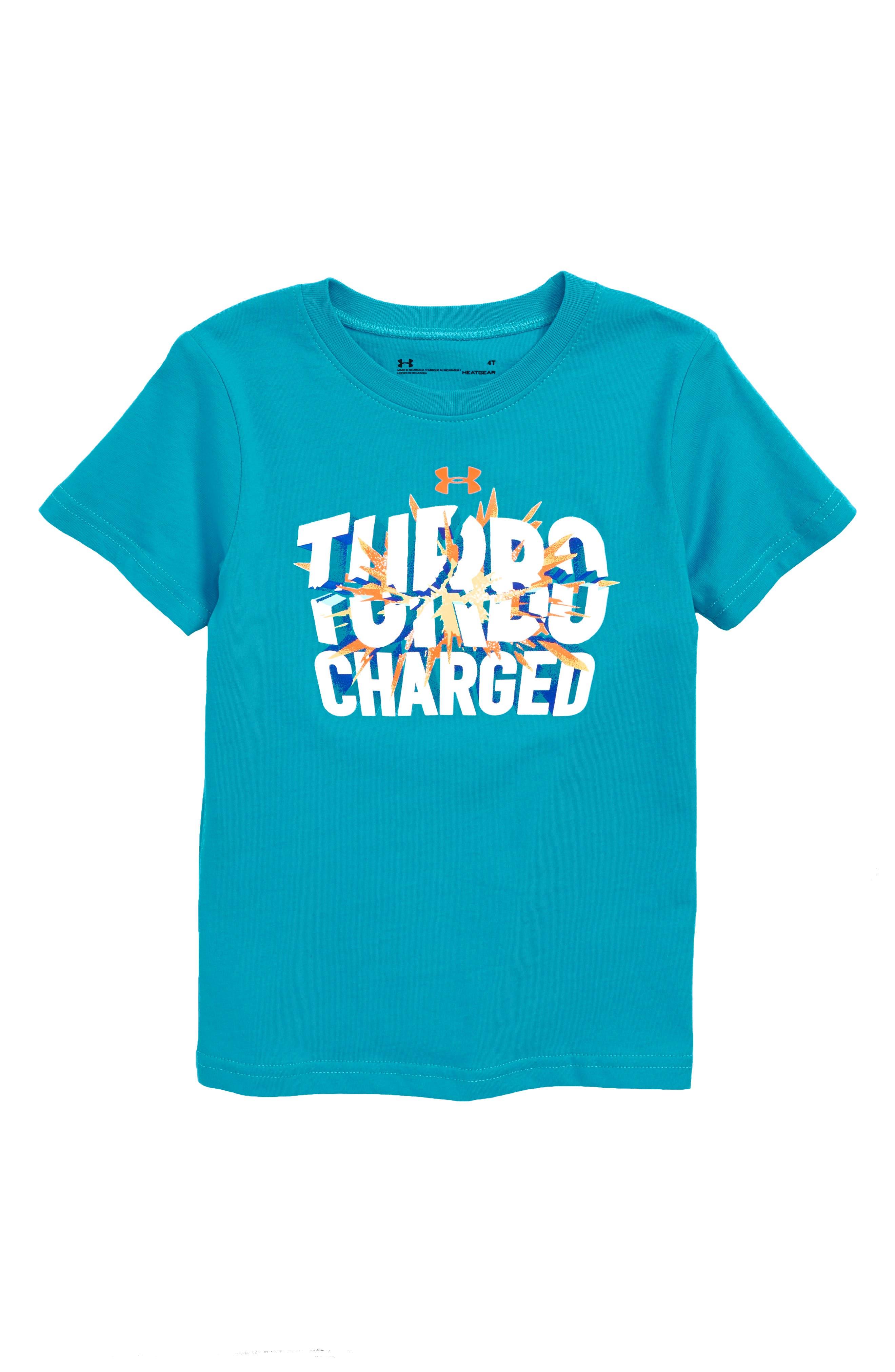 Turbo Charged Graphic HeatGear<sup>®</sup> T-Shirt,                             Main thumbnail 1, color,                             420