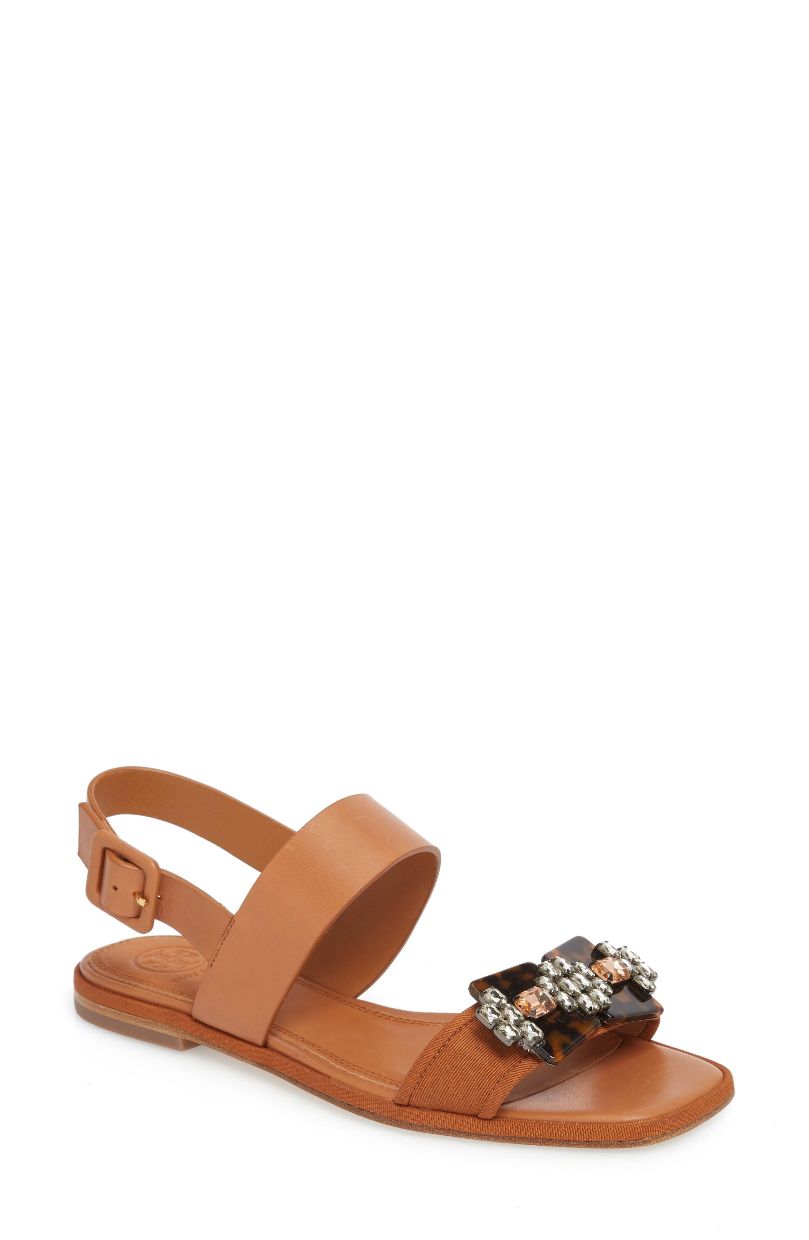 Delaney Embellished Double Strap Sandal,                             Main thumbnail 1, color,                             210