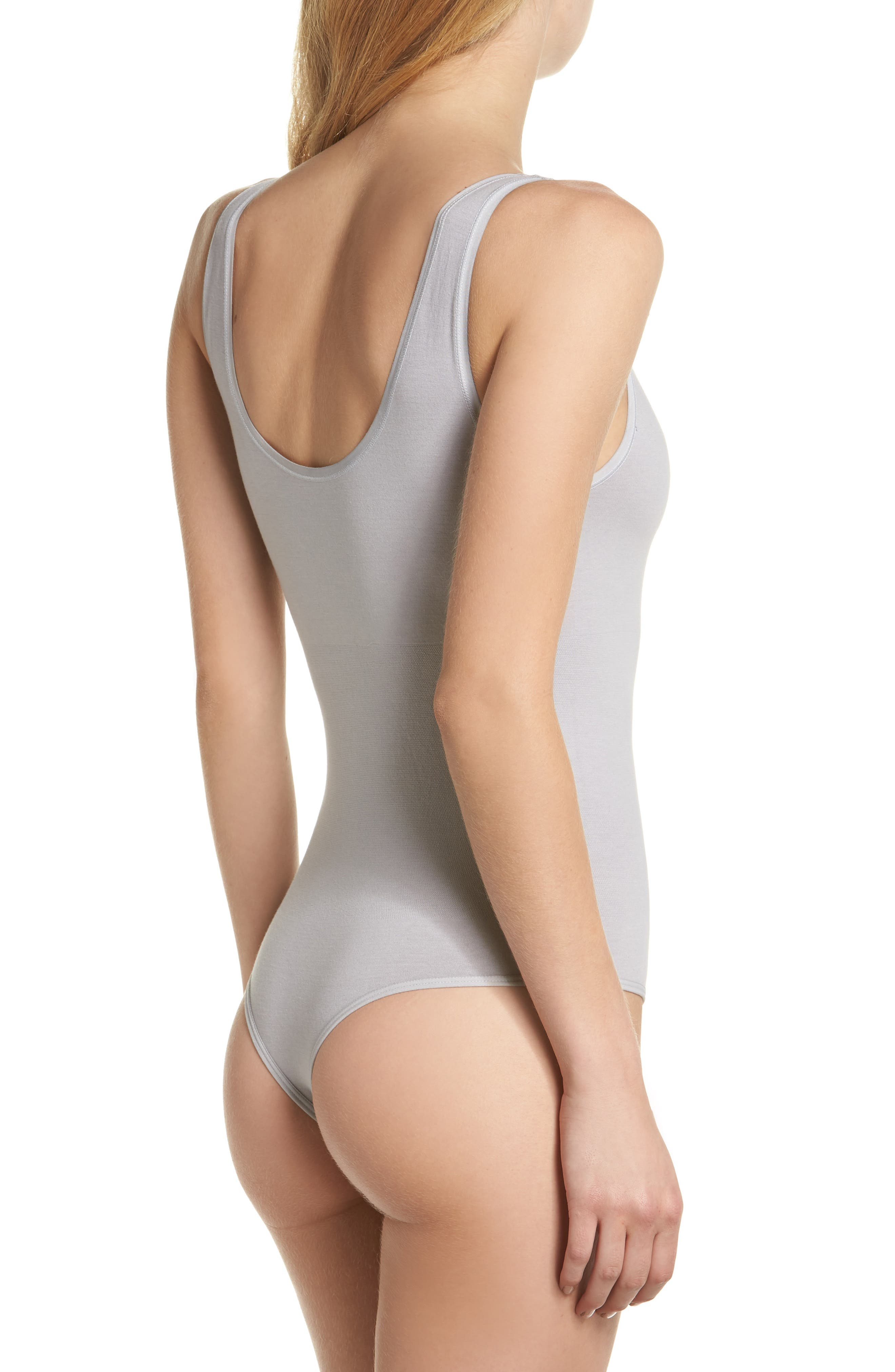Ruby Thong Bodysuit,                             Alternate thumbnail 2, color,                             SILVER SCONCE