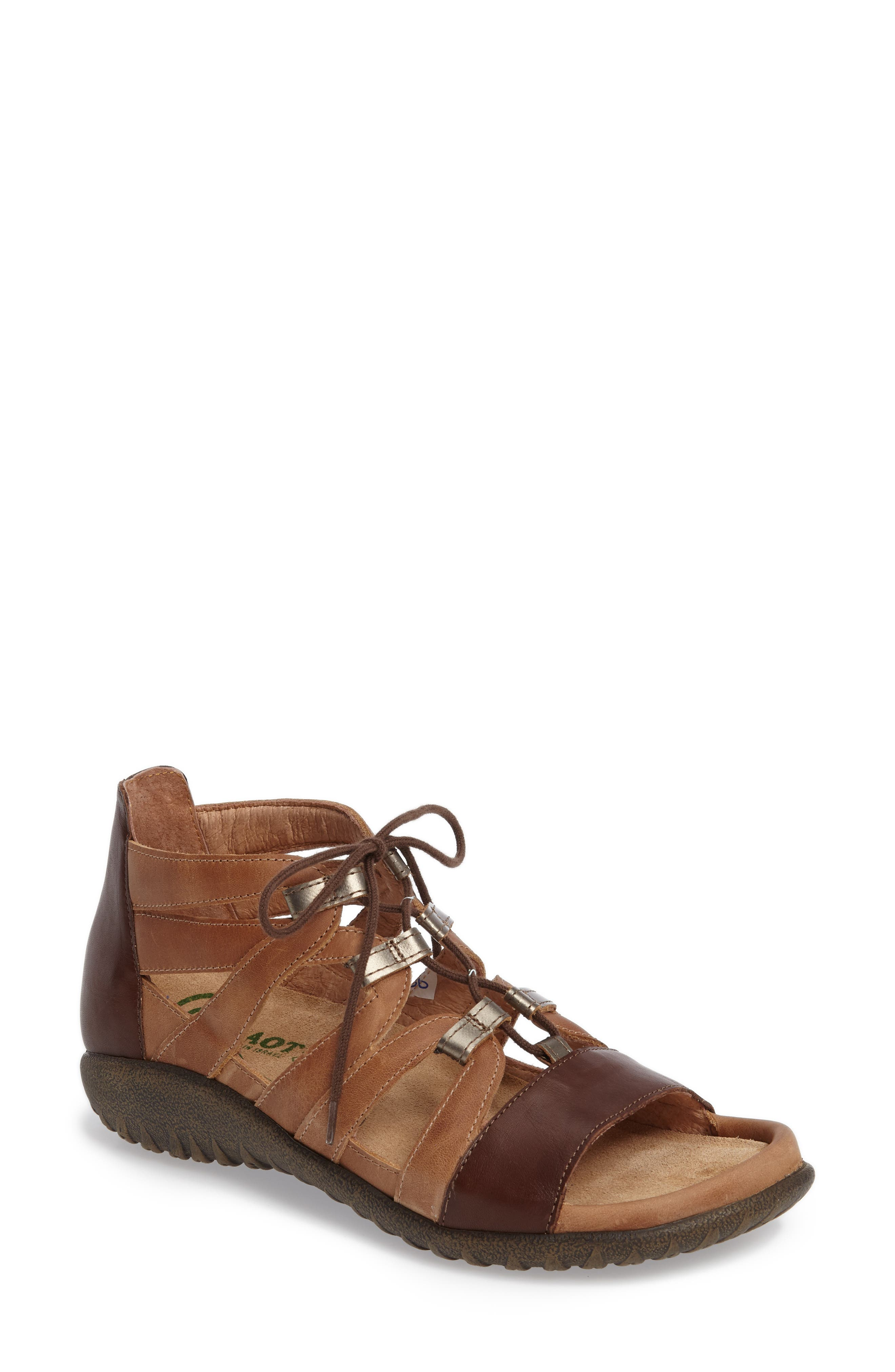 Selo Sandal,                         Main,                         color, BROWN/ PEWTER LEATHER