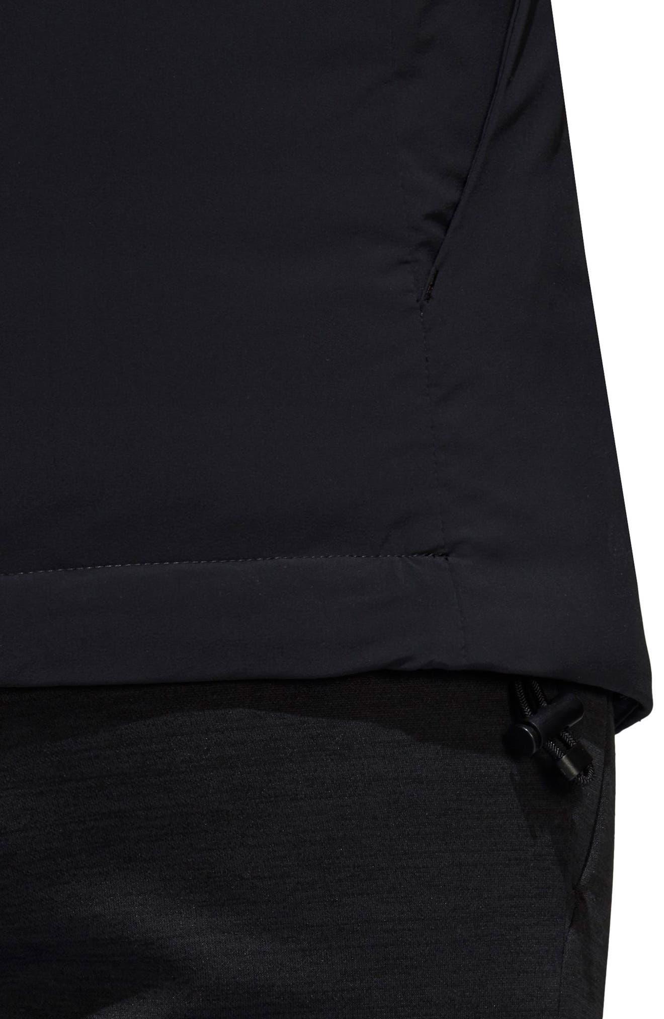 Rain Jacket,                             Alternate thumbnail 6, color,                             BLACK