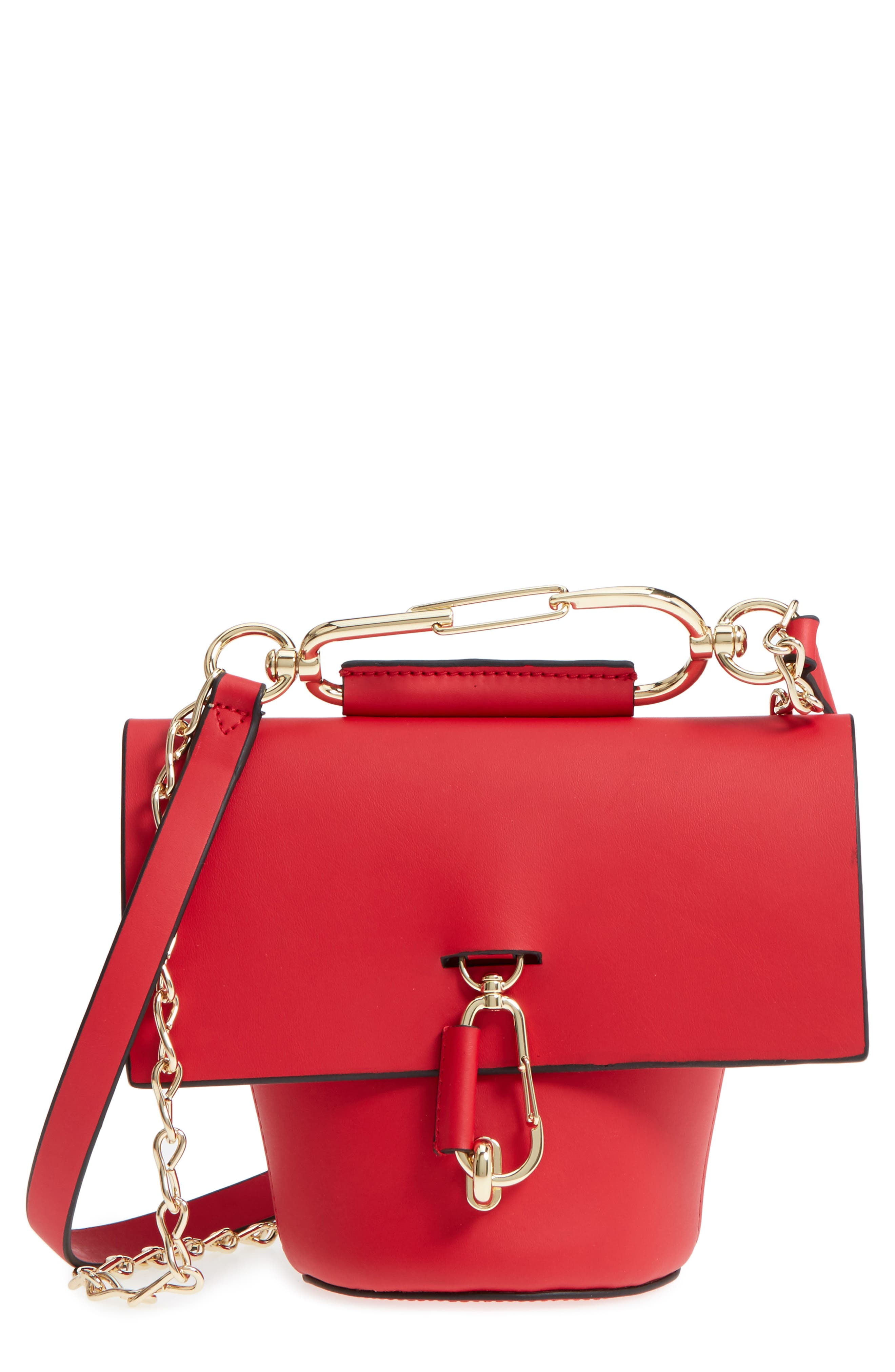 Belay Chain Calfskin Leather Crossbody Bag,                             Main thumbnail 5, color,
