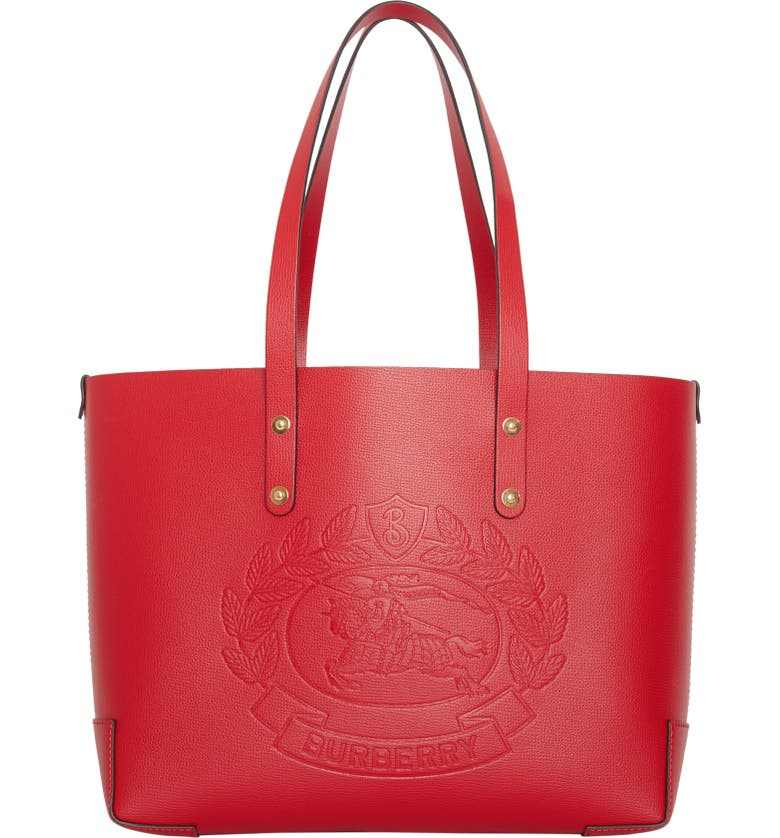 42730926cc79 Burberry Embossed Crest Small Leather Tote