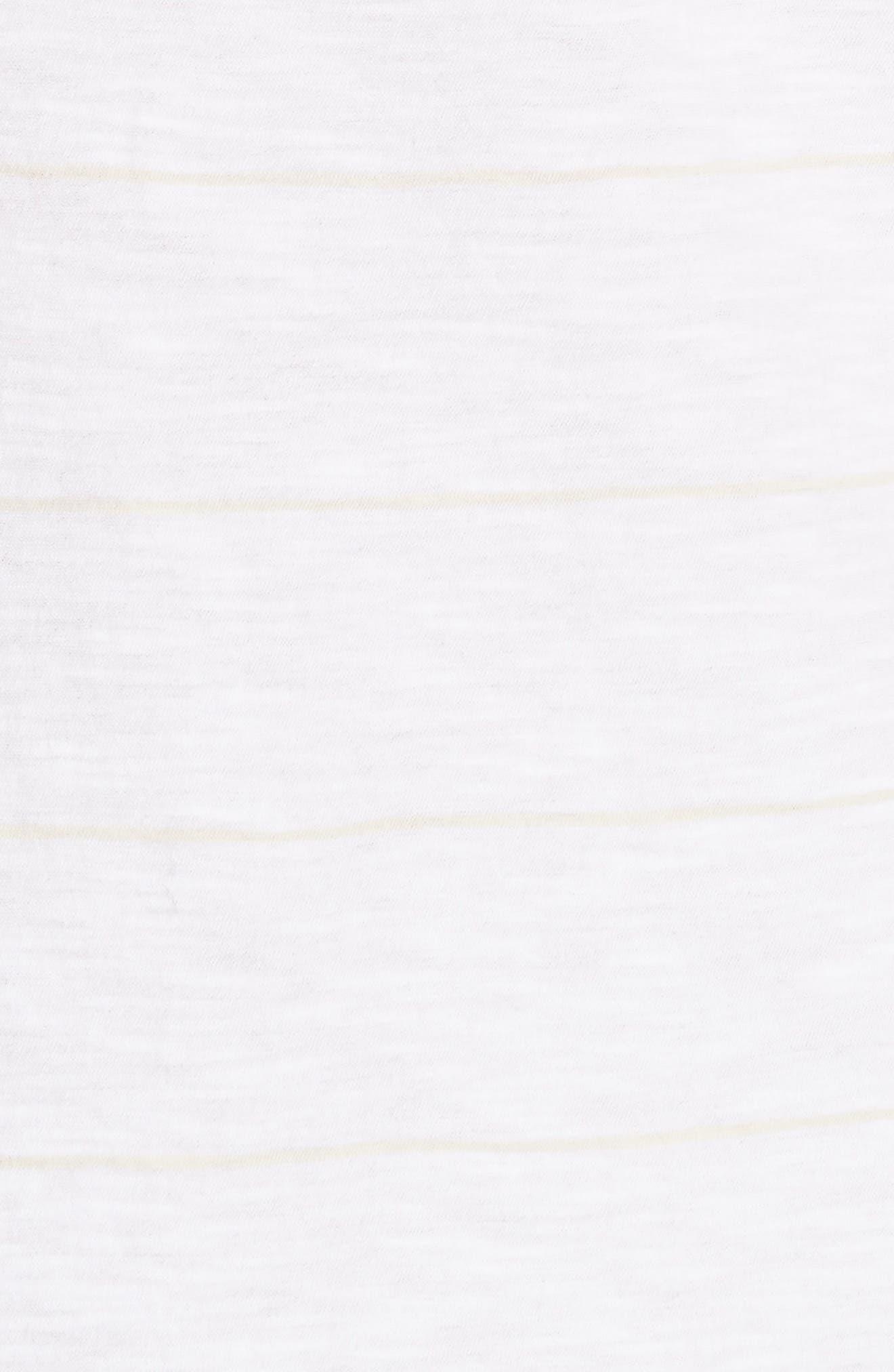 Skinny Stripe Pima Cotton Tank,                             Alternate thumbnail 5, color,                             108