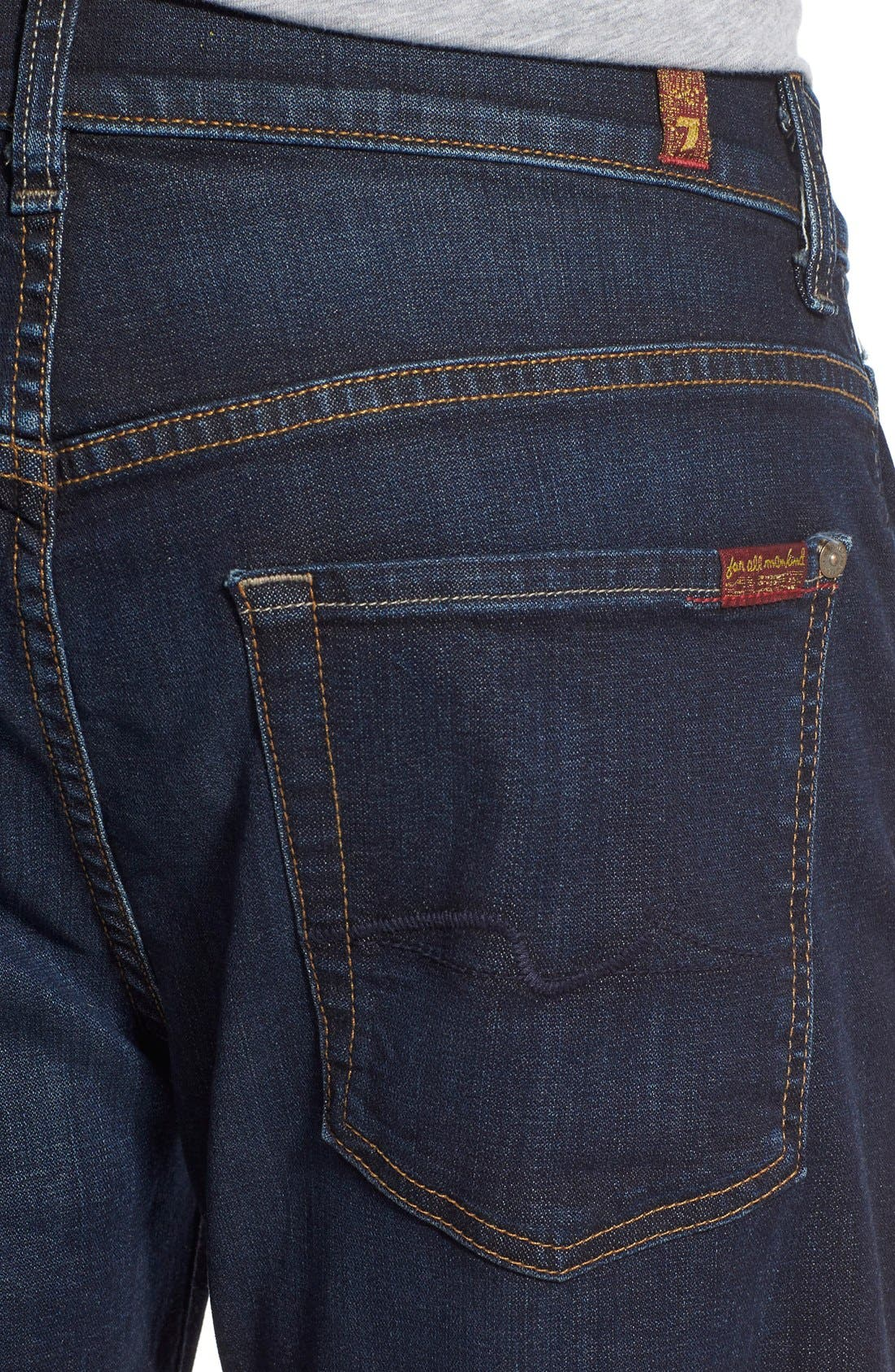 7 FOR ALL MANKIND<SUP>®</SUP>,                             'Straight' Slim Straight Leg Jeans,                             Alternate thumbnail 5, color,                             400