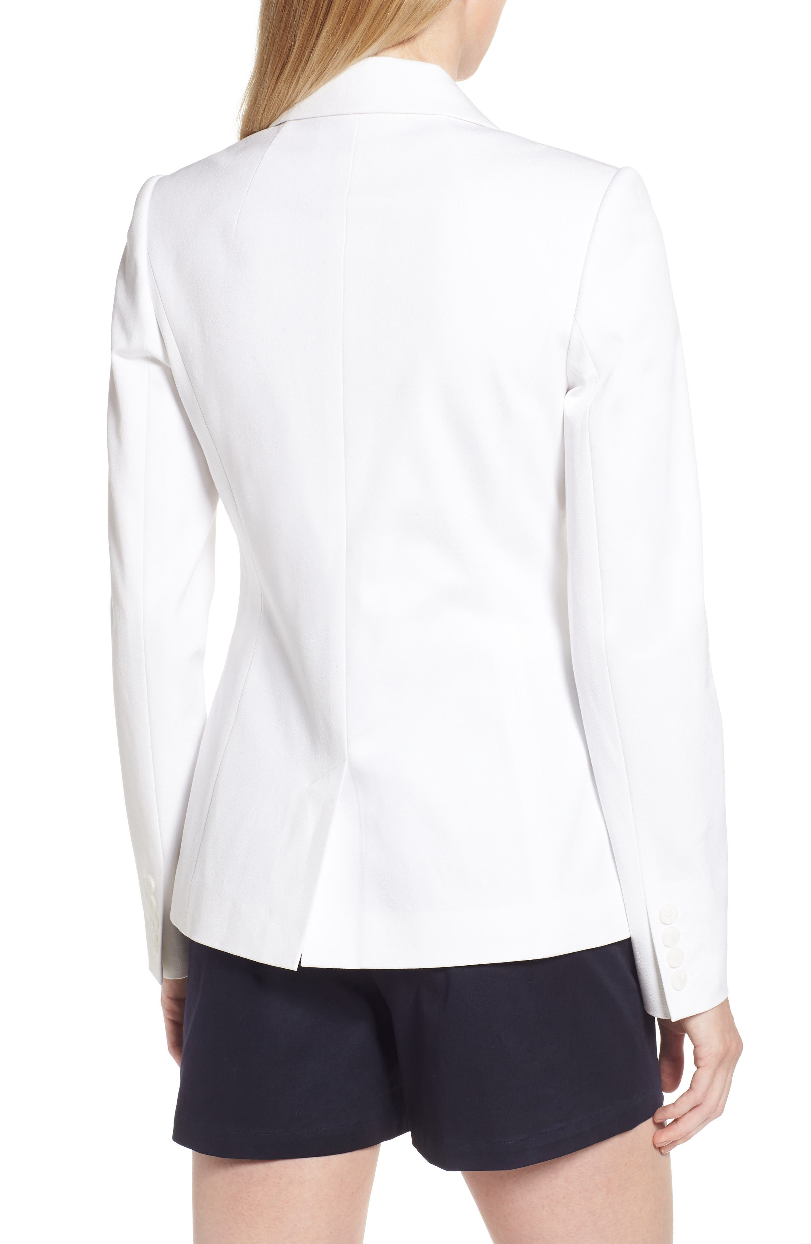 Stretch Cotton Twill Blazer,                             Alternate thumbnail 7, color,