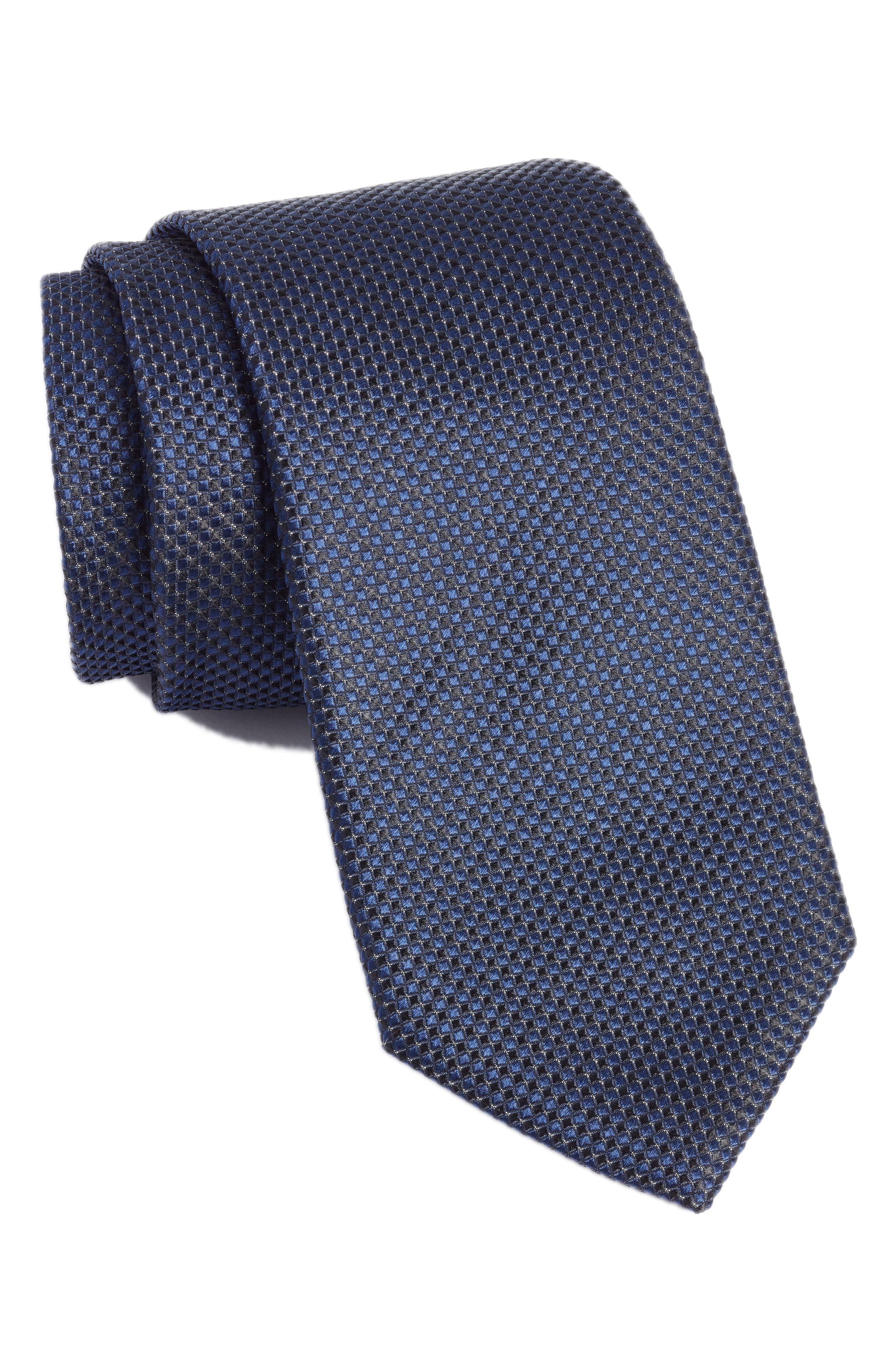 Silk Tie,                         Main,                         color, NAVY