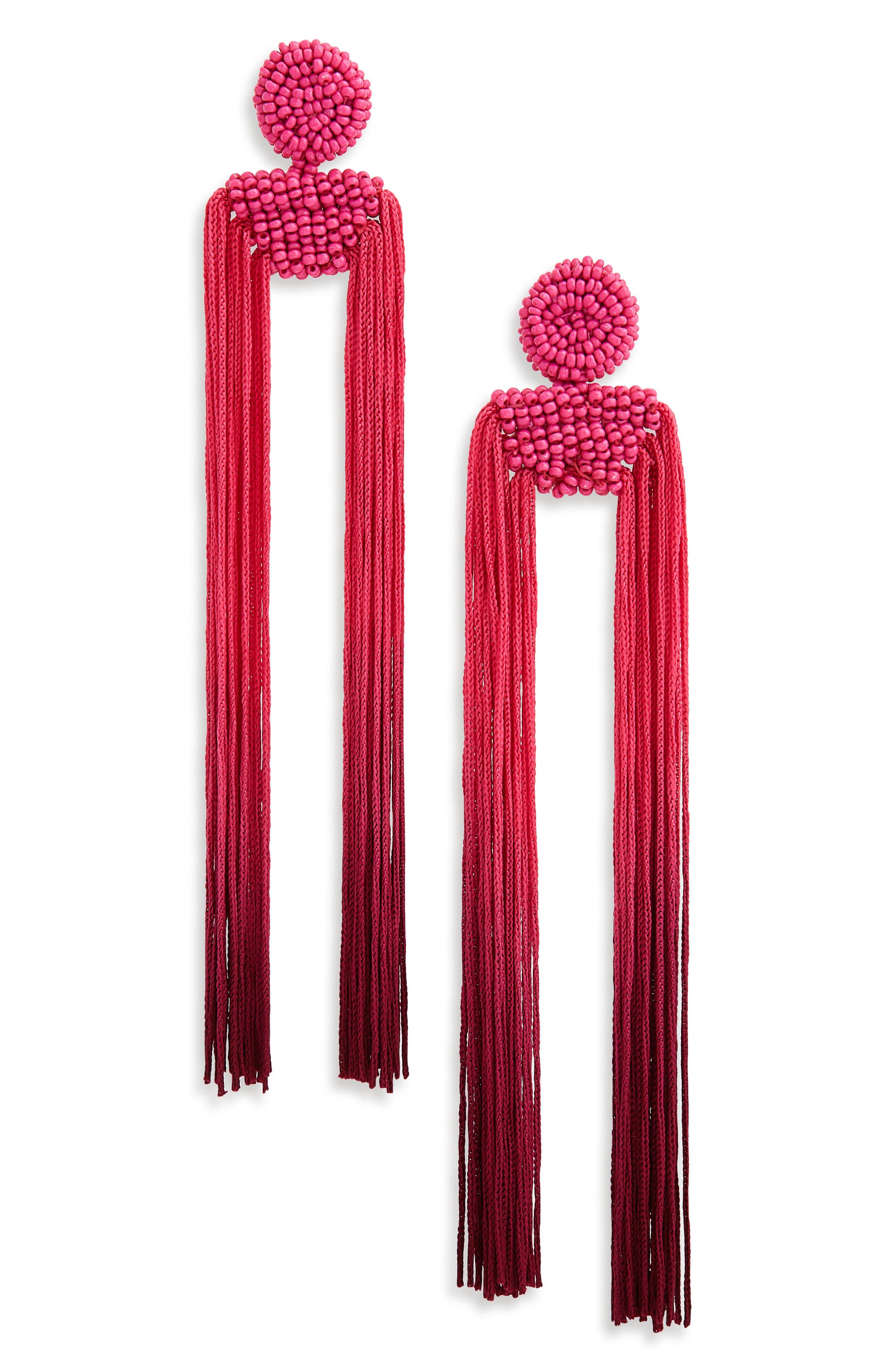 Tropicana Long Tassel Earrings,                             Main thumbnail 3, color,