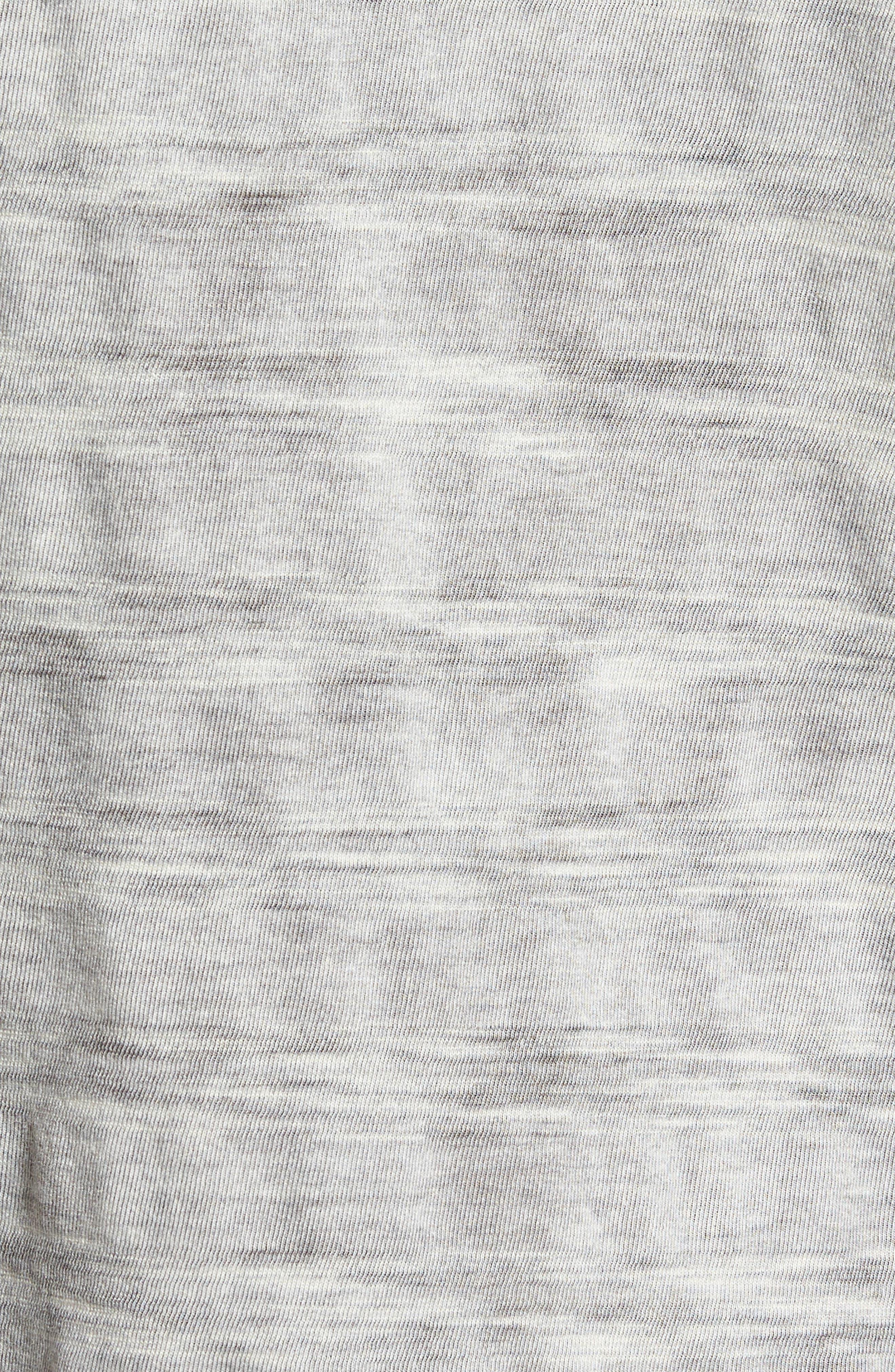 Slim Fit Ombré Stripe T-Shirt,                             Alternate thumbnail 5, color,                             077
