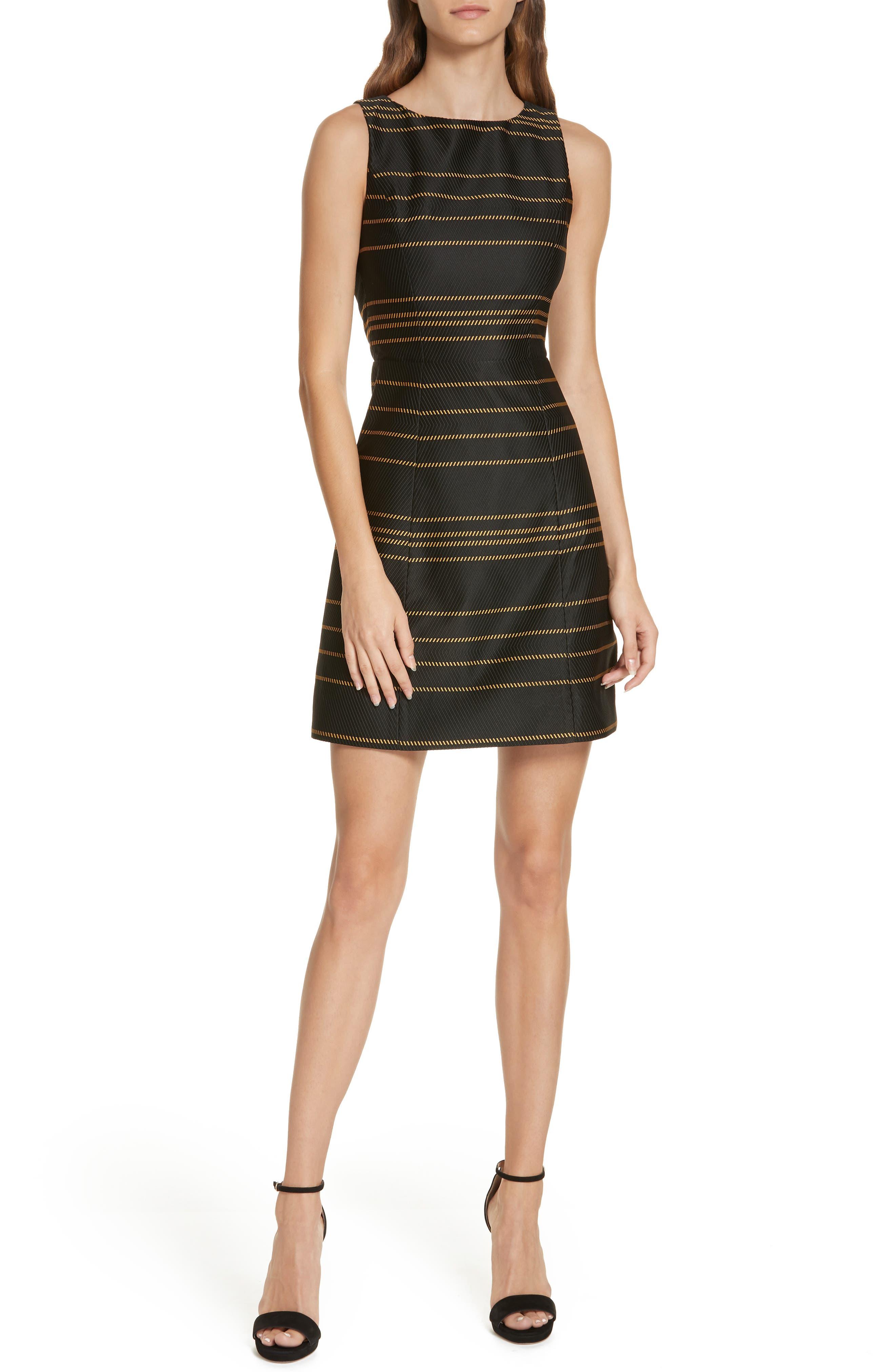 Alice + Olivia Lindsey Structured A-Line Dress, Black
