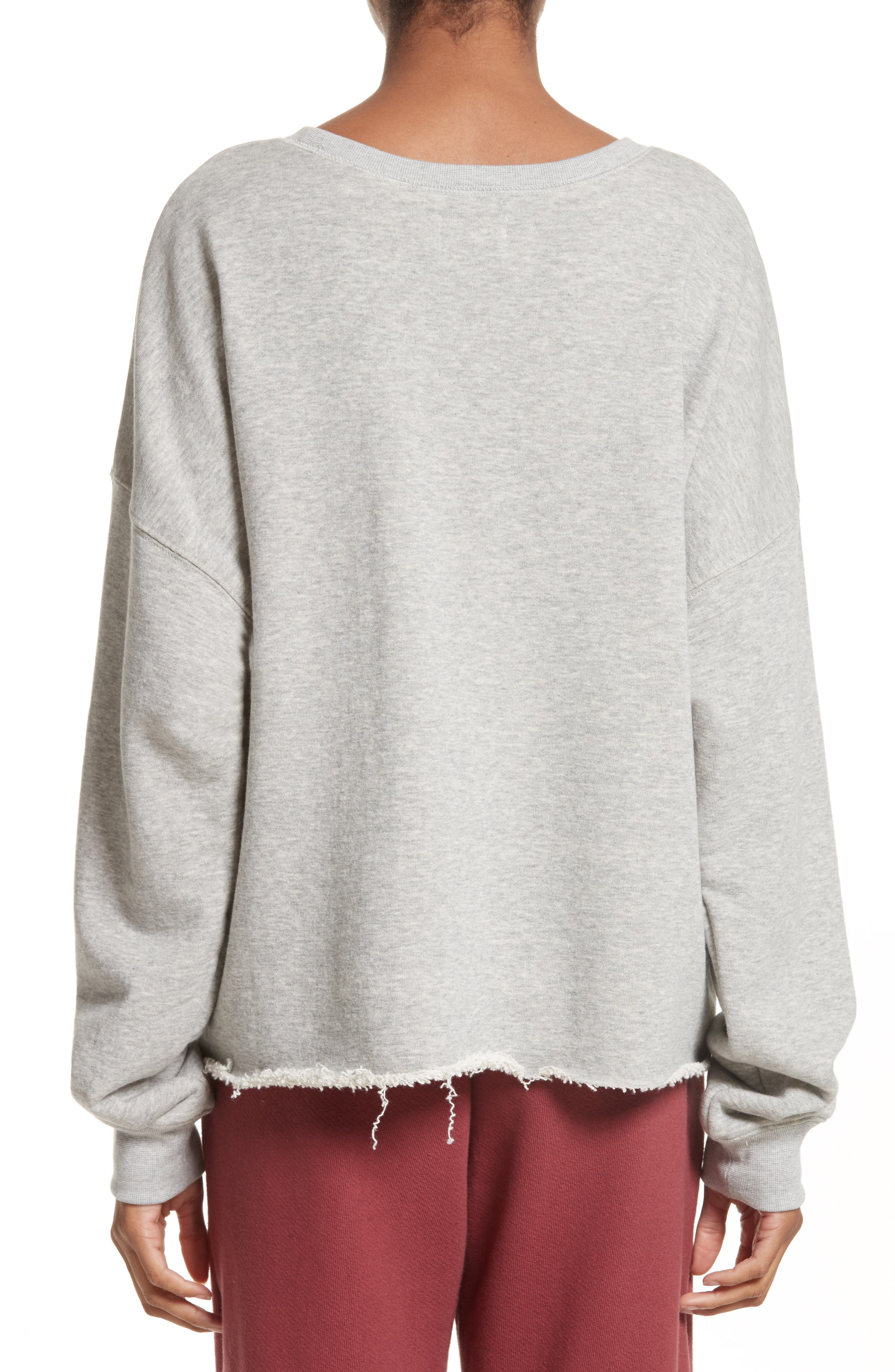 Brushed Terry Sweatshirt,                             Alternate thumbnail 2, color,                             020