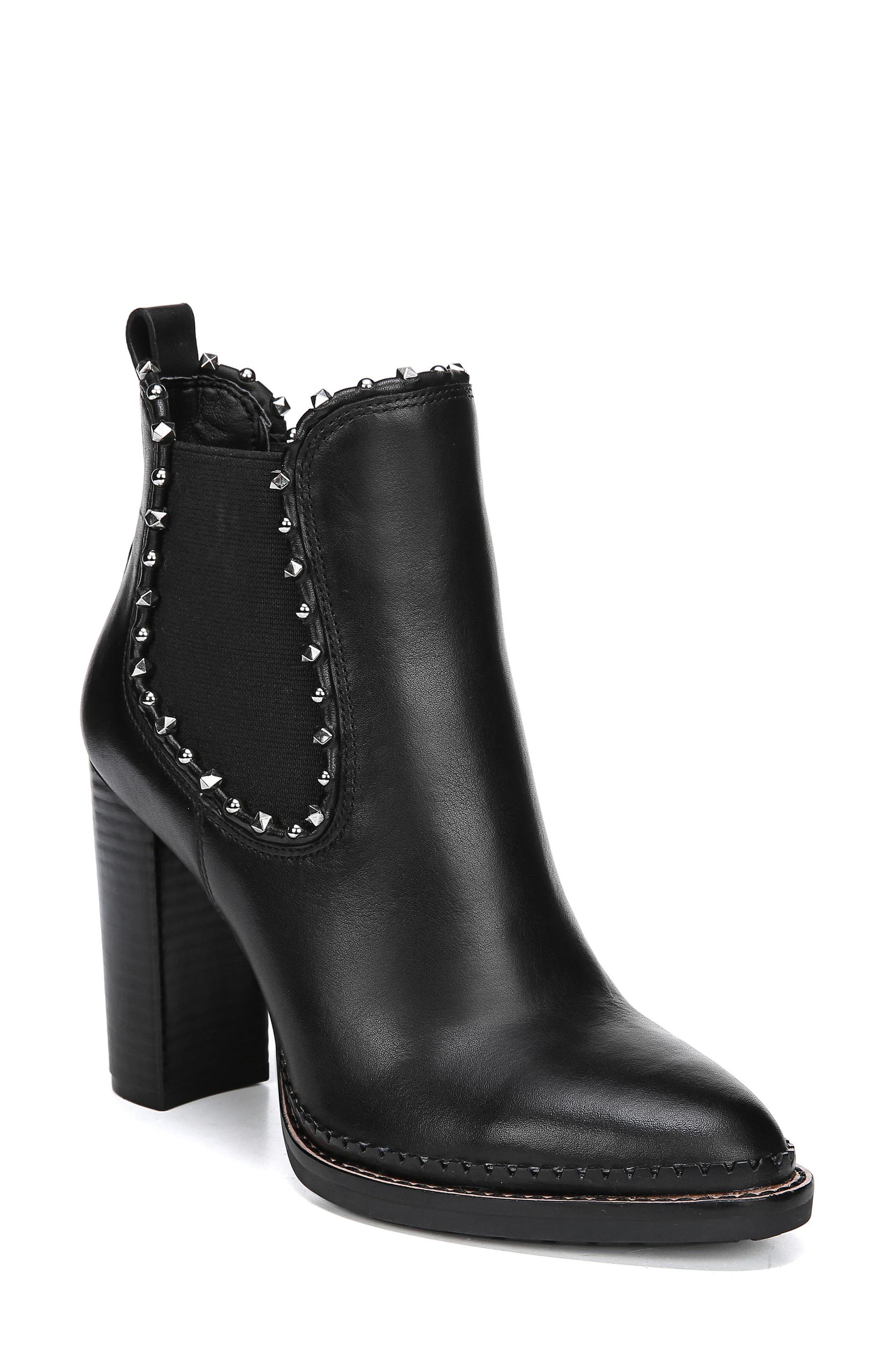 SAM EDELMAN Salma Studded Chelsea Boot, Main, color, 001