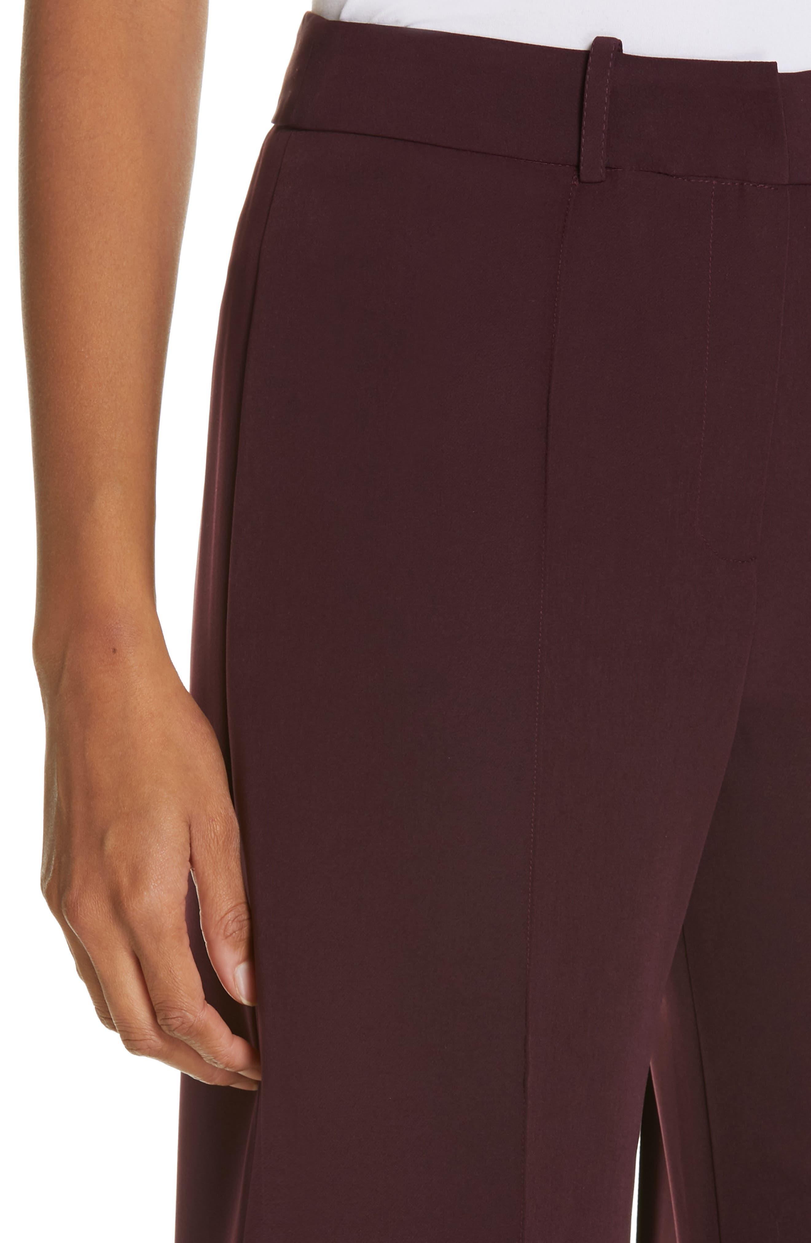 Hayden Seam Front Wide Leg Pants,                             Alternate thumbnail 4, color,                             400