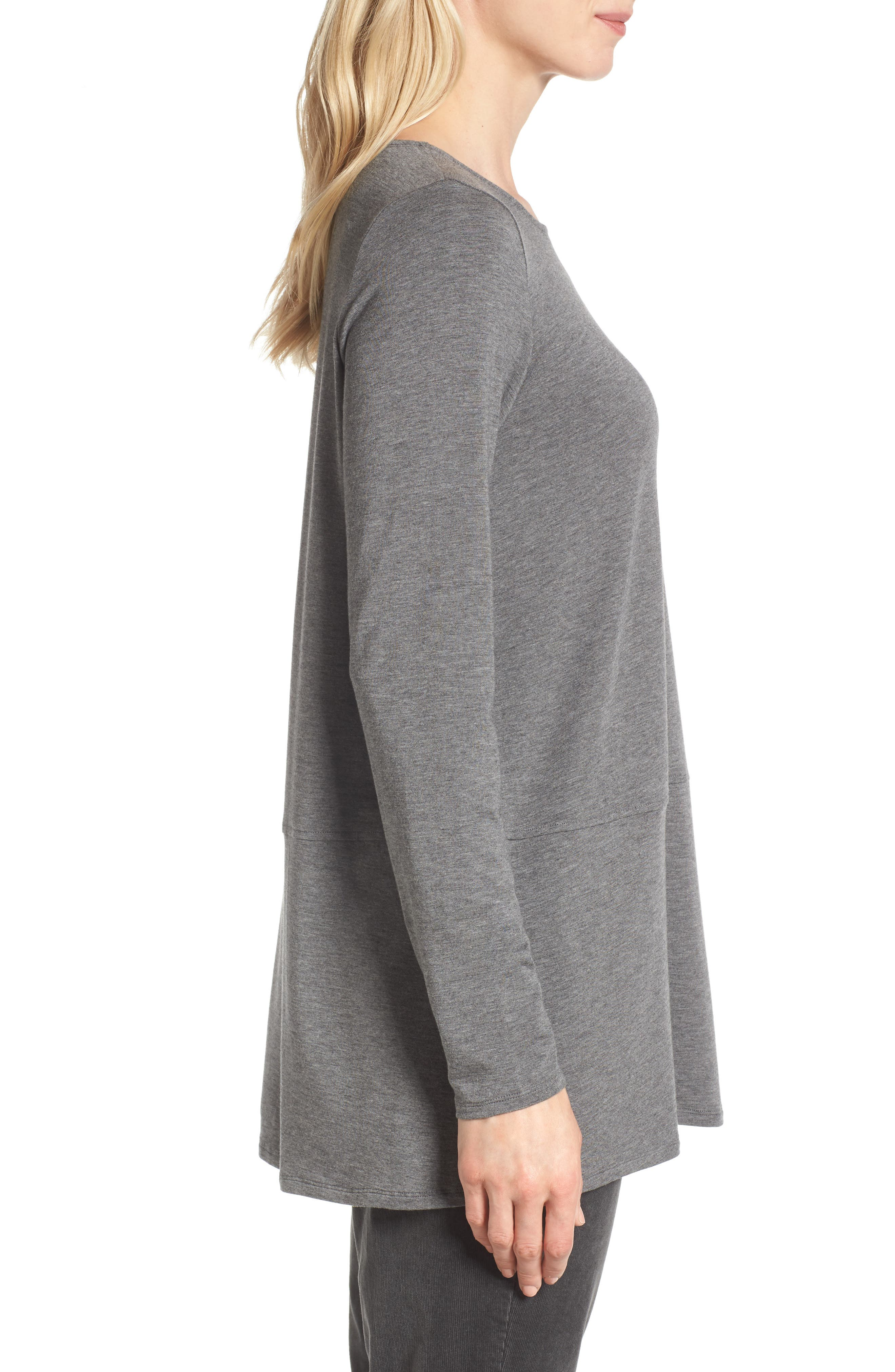 Stretch Tencel<sup>®</sup> Top,                             Alternate thumbnail 6, color,