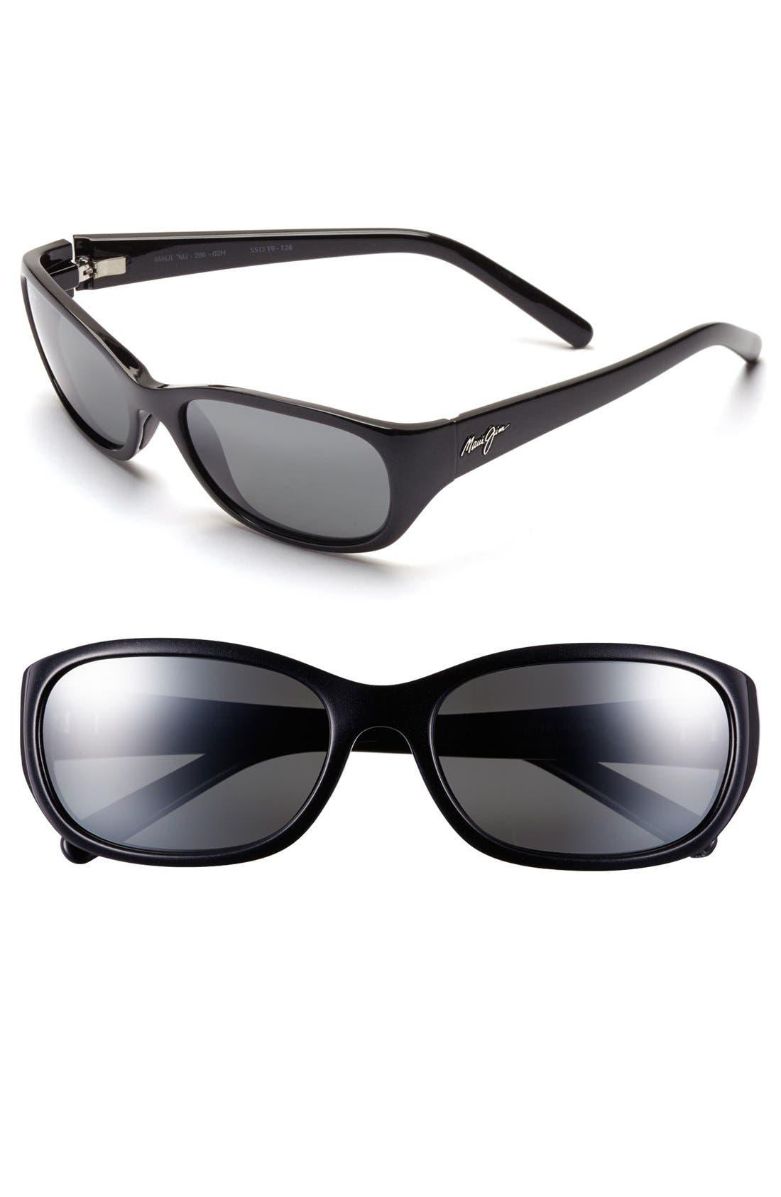 Kuiaha Bay 55mm PolarizedPlus<sup>®</sup> Sport Sunglasses,                         Main,                         color,