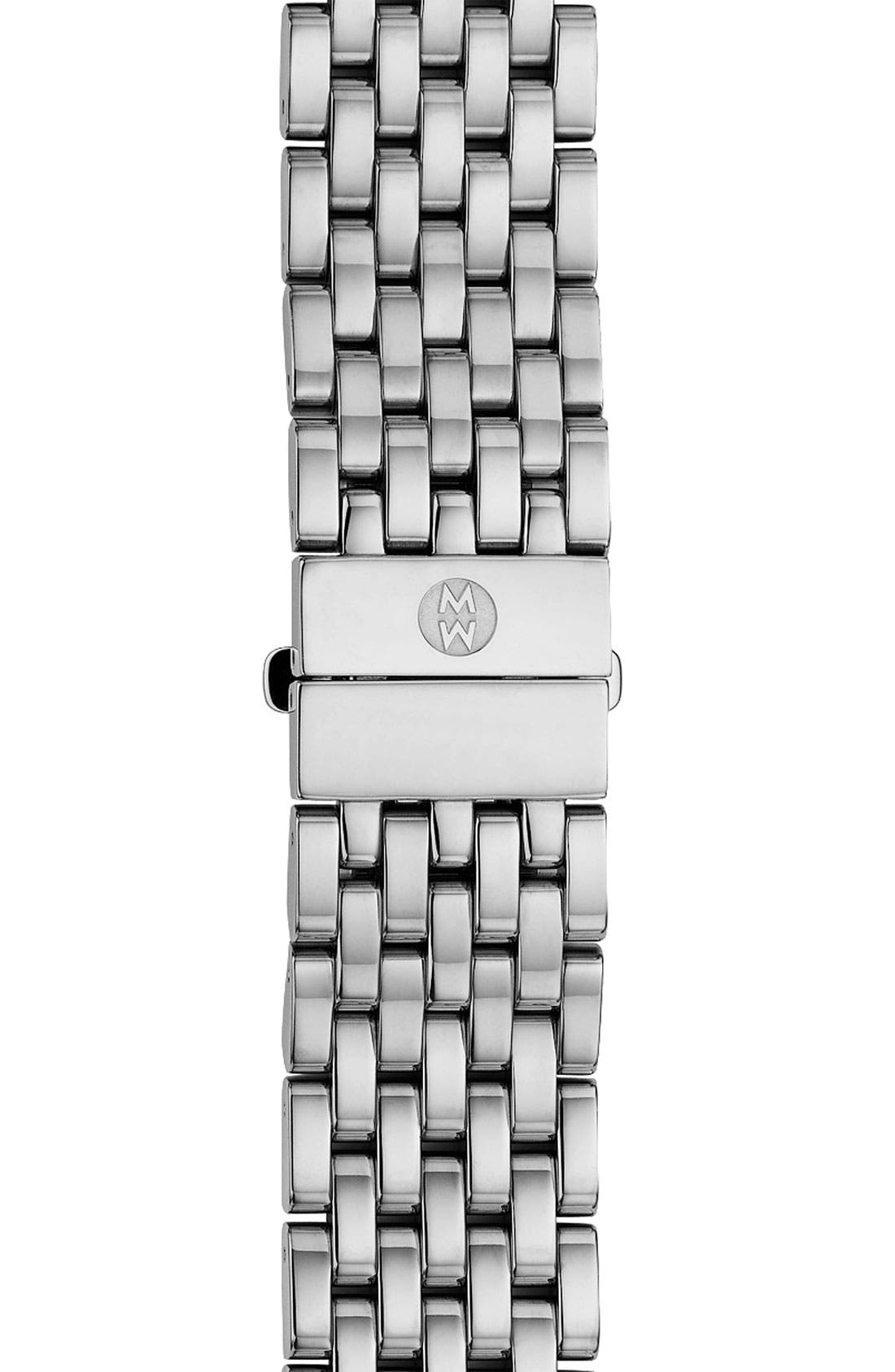 'Serein' 18mm Watch Bracelet Band,                             Main thumbnail 1, color,                             SILVER