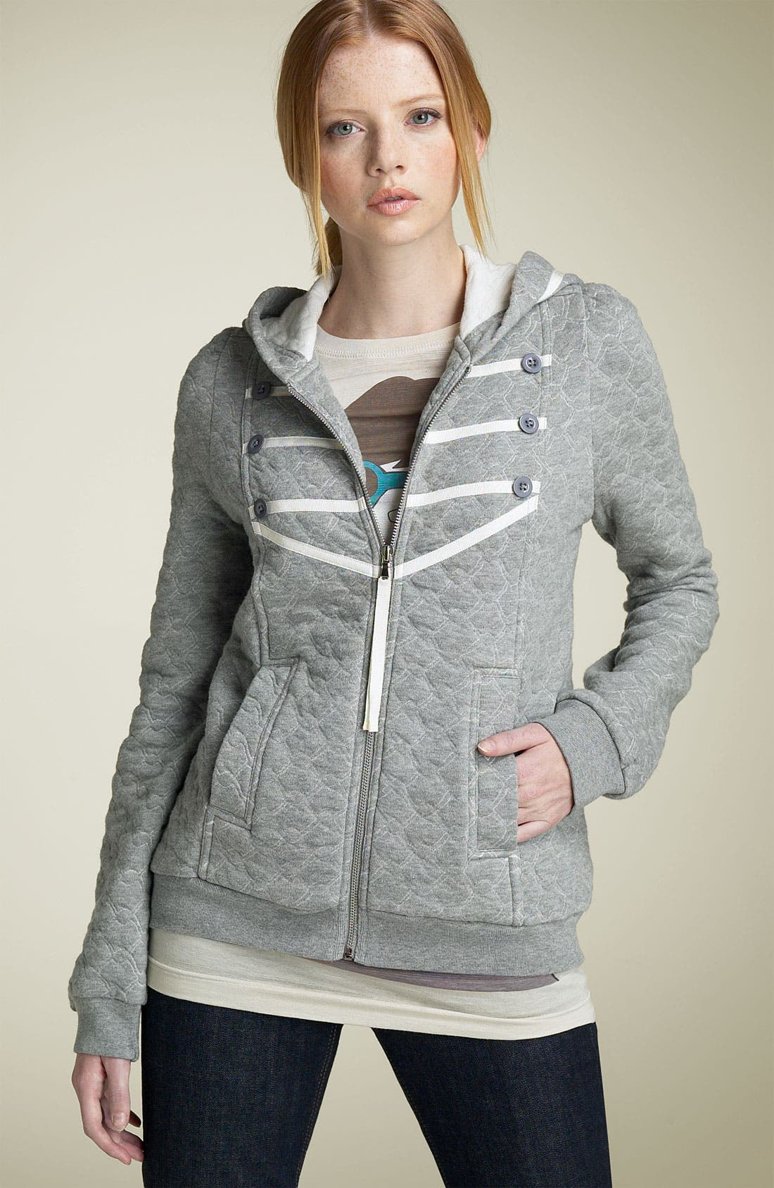 MARC BY MARC JACOBS Link Outline Hoody, Main, color, 049