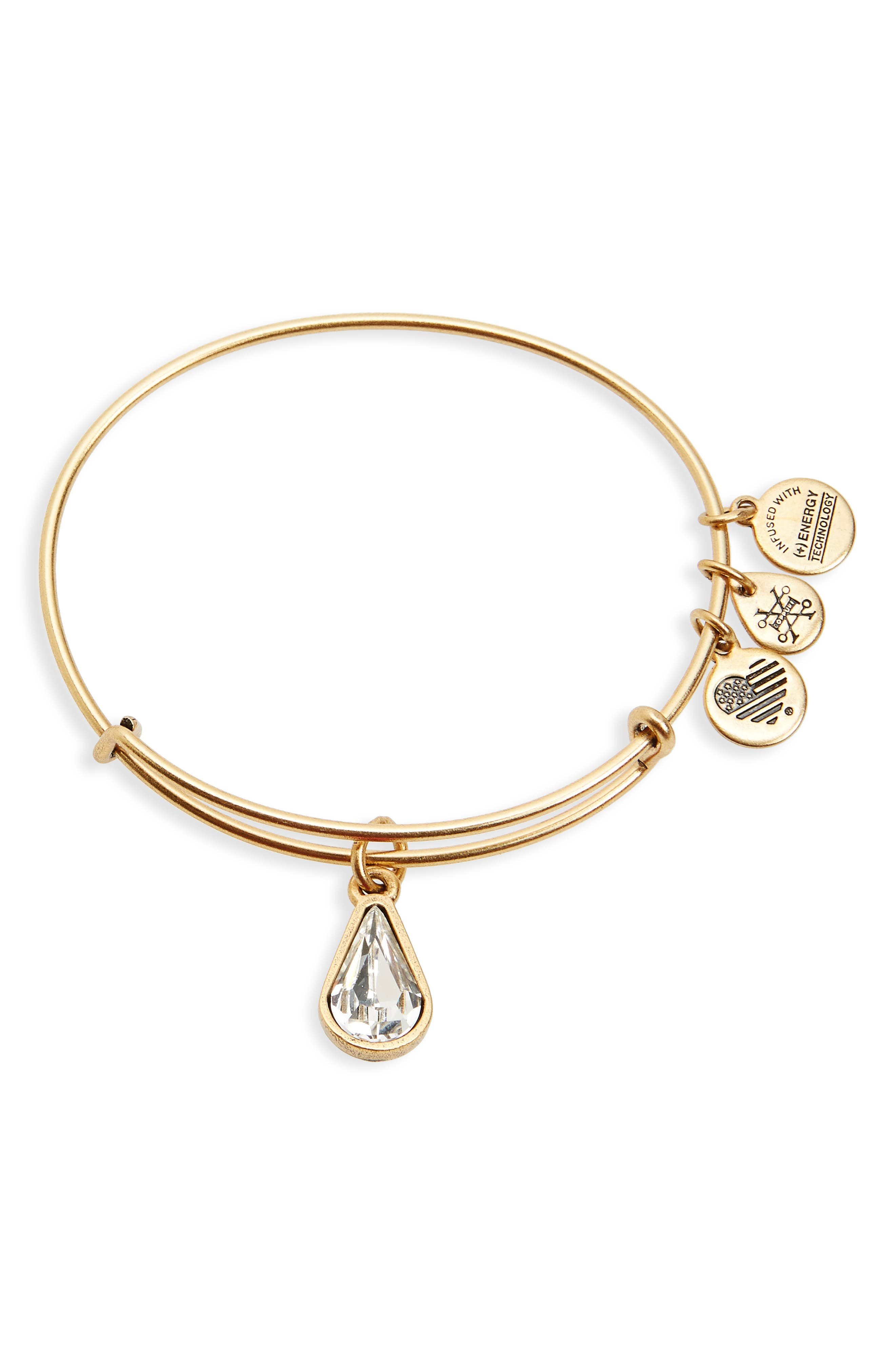 ALEX AND ANI Birthstone Expandable Wire Bangle with Swarovski Crystal, Main, color, 100