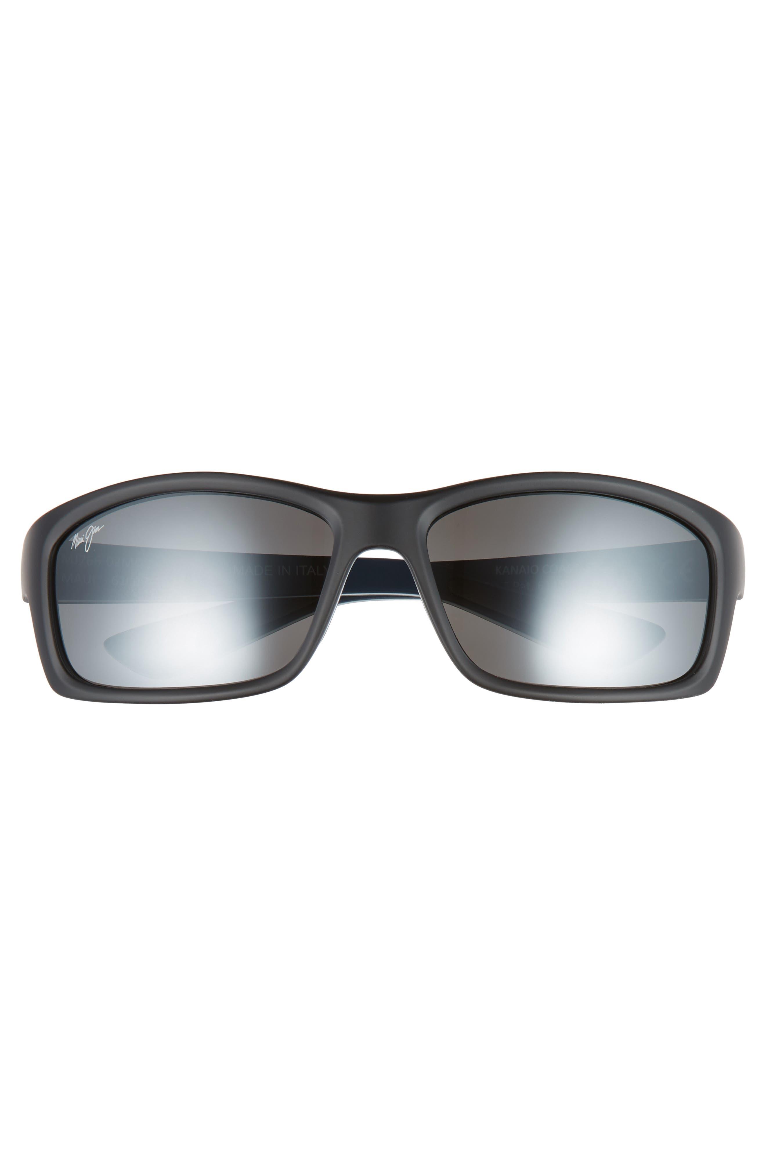 Kanaio Coast 61mm PolarizedPlus2<sup>®</sup> Sunglasses,                             Alternate thumbnail 2, color,                             MATTE BLACK/WHITE/BLUE