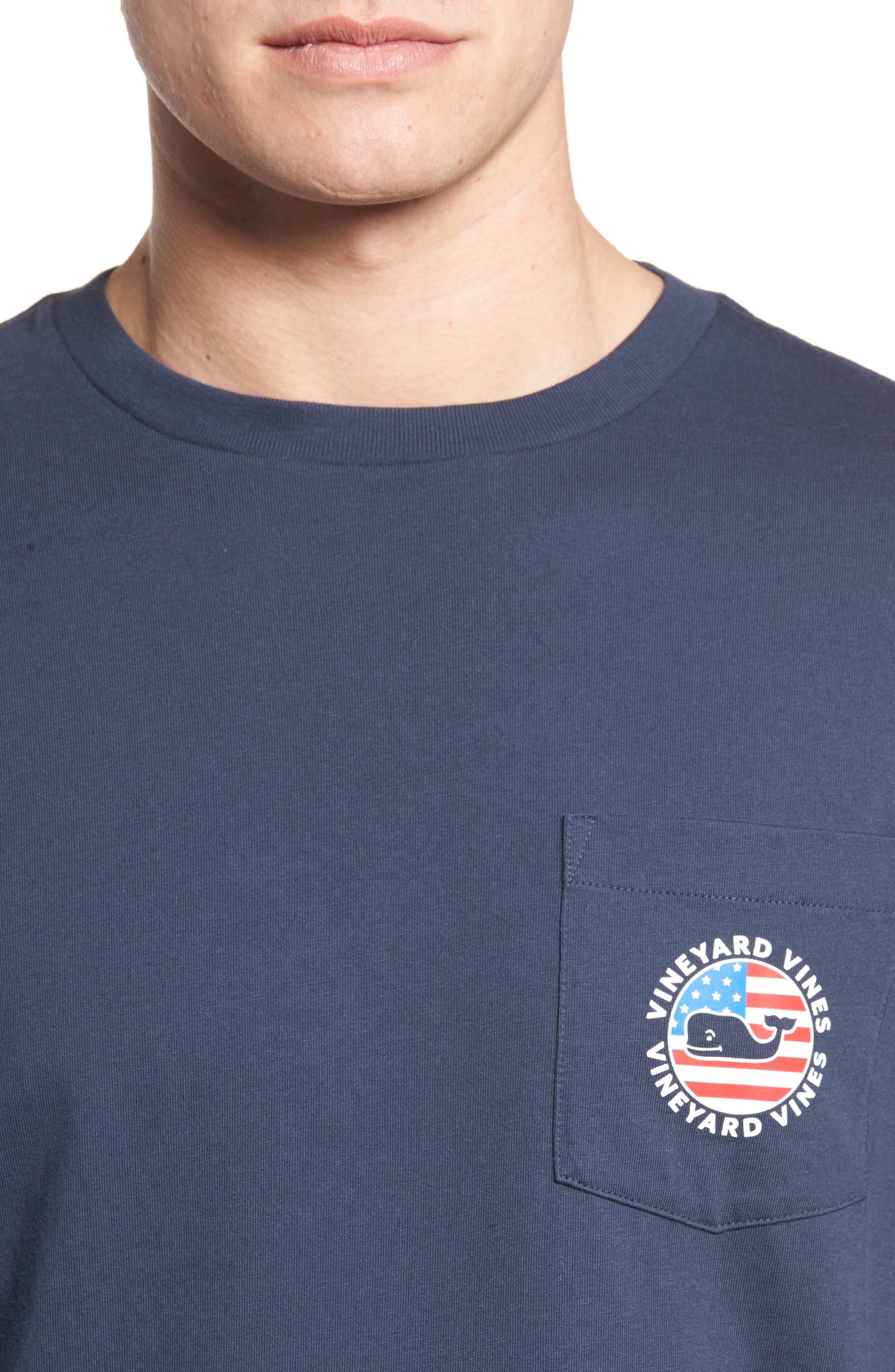 Patriot Dot Graphic T-Shirt,                             Alternate thumbnail 4, color,
