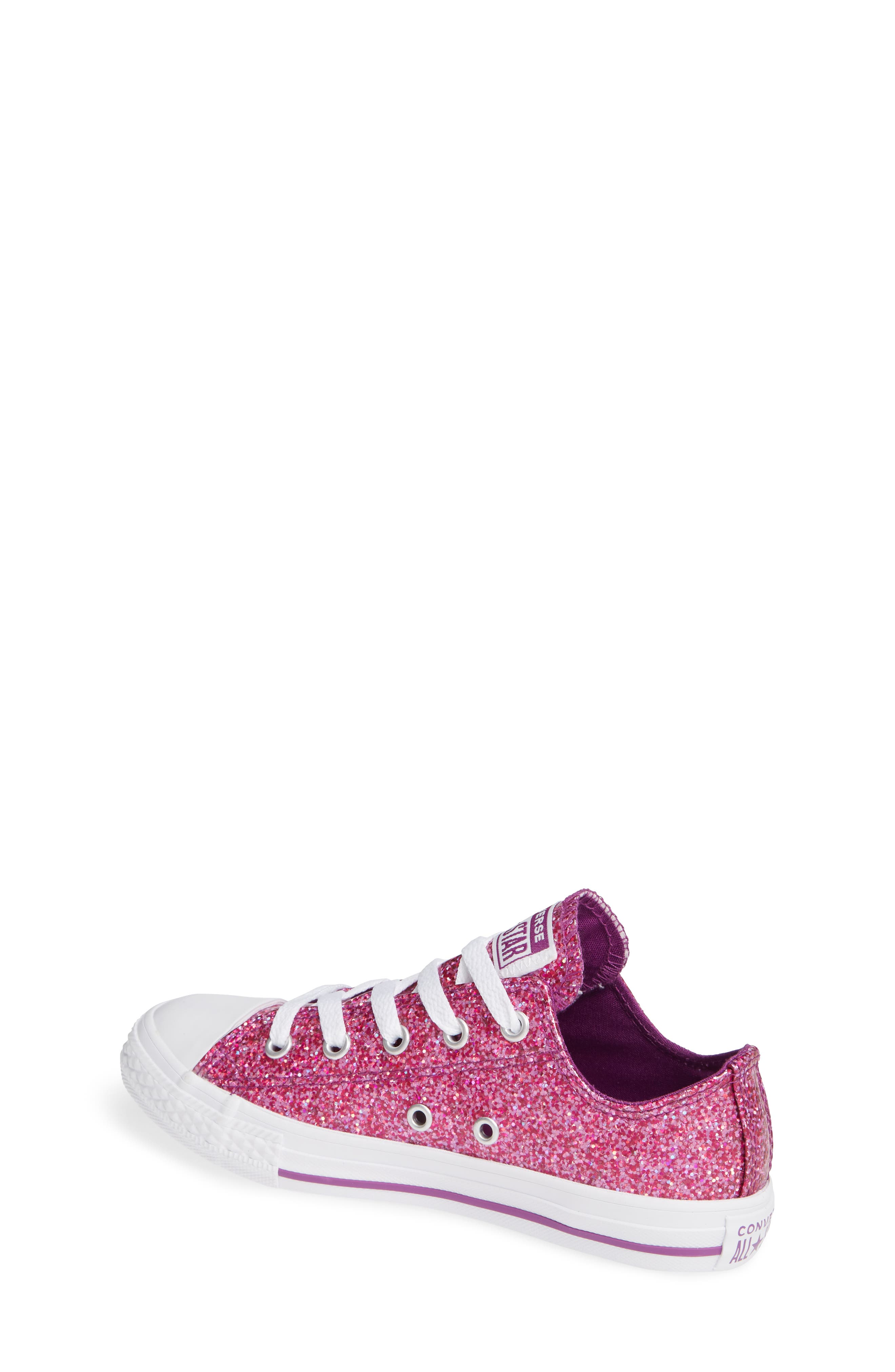 All Star<sup>®</sup> Seasonal Glitter OX Low Top Sneaker,                             Alternate thumbnail 2, color,                             ICON VIOLET
