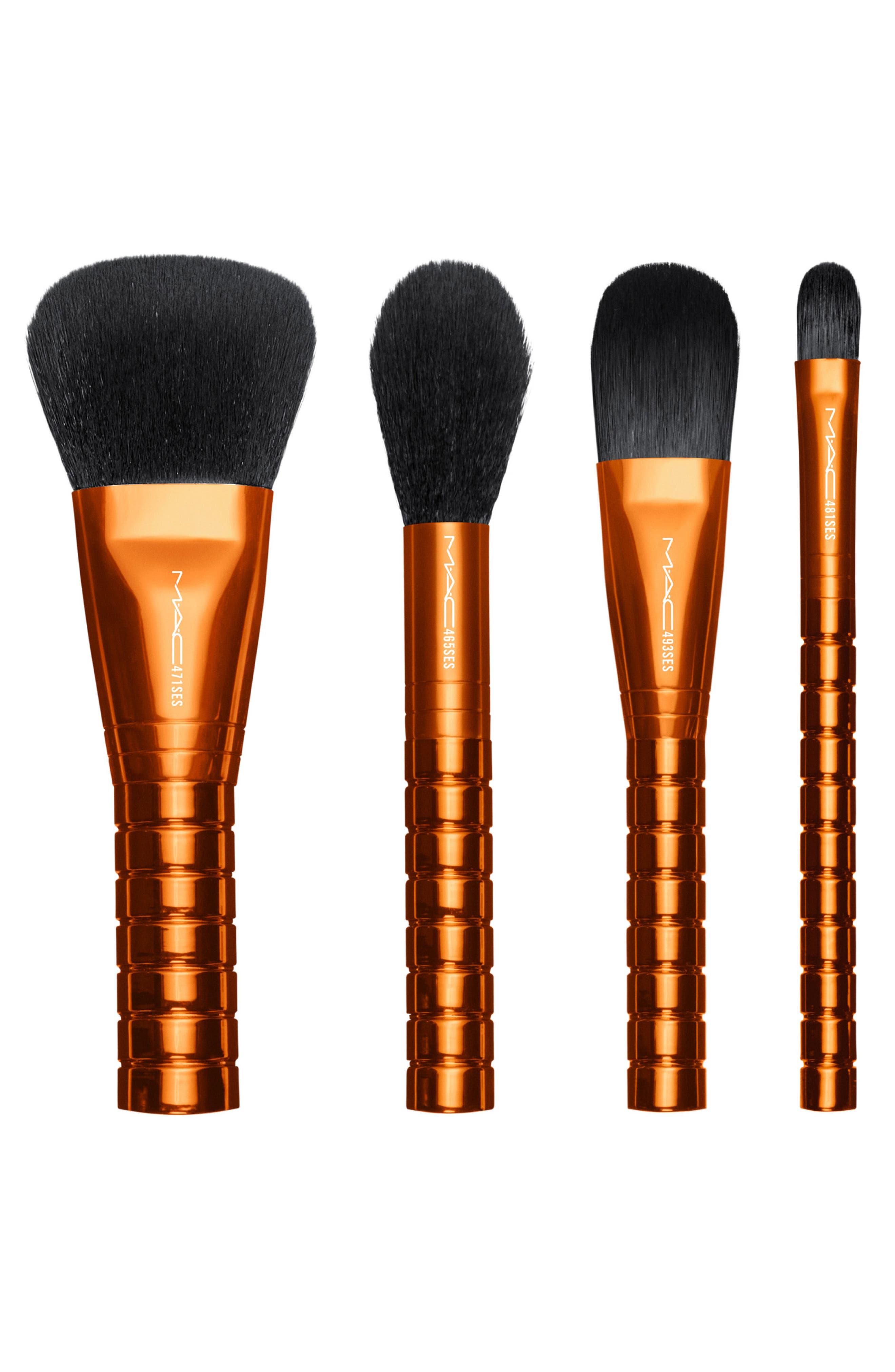 MAC Shiny Pretty Things Face Brush Kit,                             Alternate thumbnail 3, color,                             NO COLOR