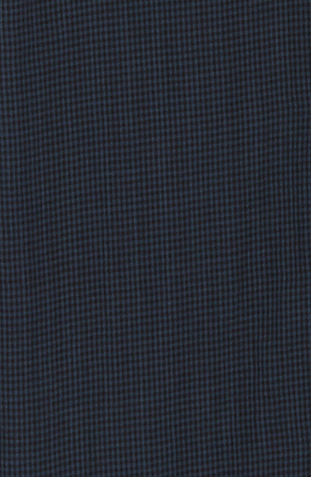 Double Gingham Shirt,                             Alternate thumbnail 6, color,                             BLACK IRIS