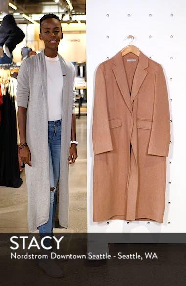 Long Wool Alpaca Blend Coat, sales video thumbnail