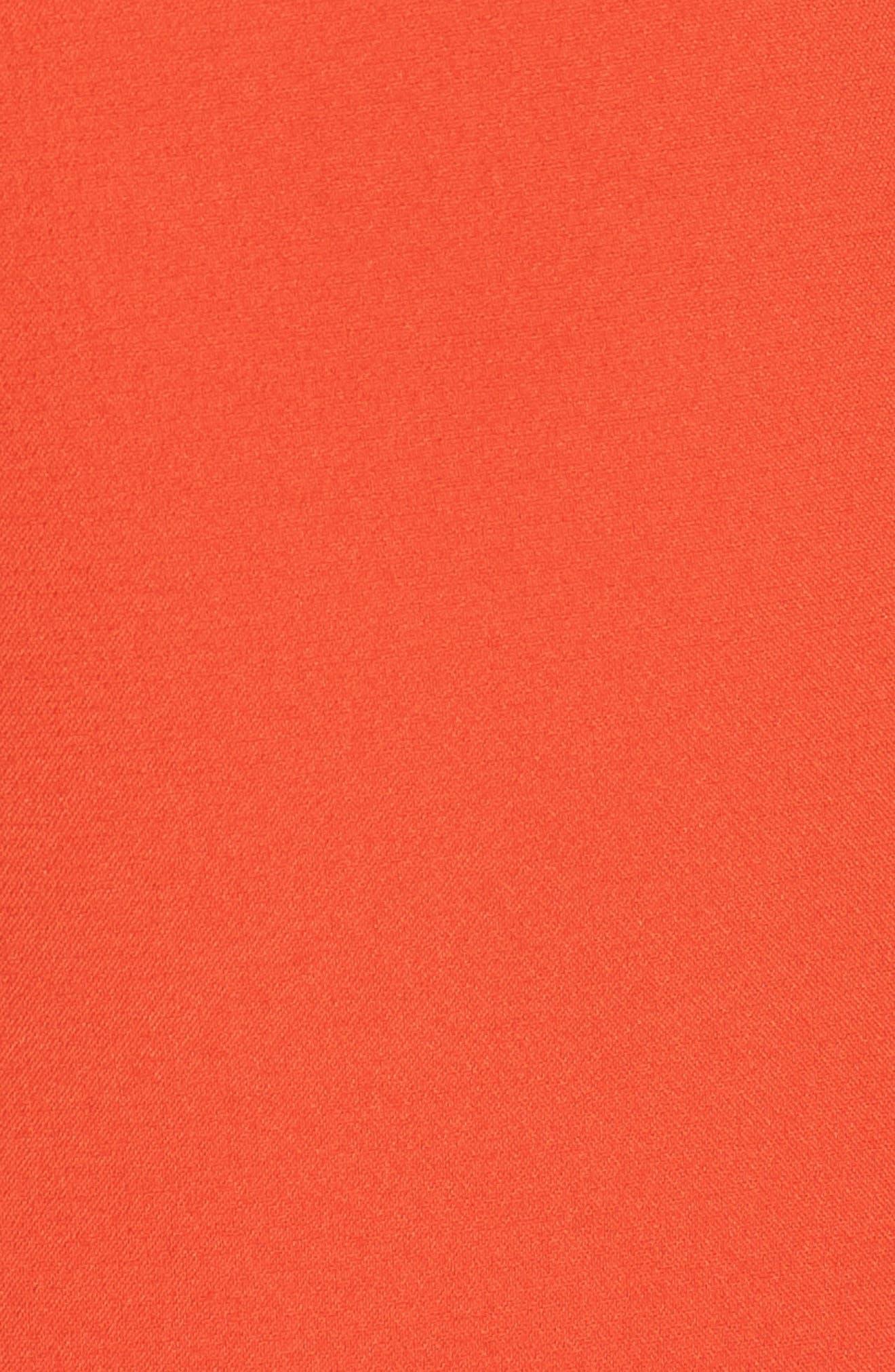 Ruffle Hem Minidress,                             Alternate thumbnail 6, color,                             TANGERINE