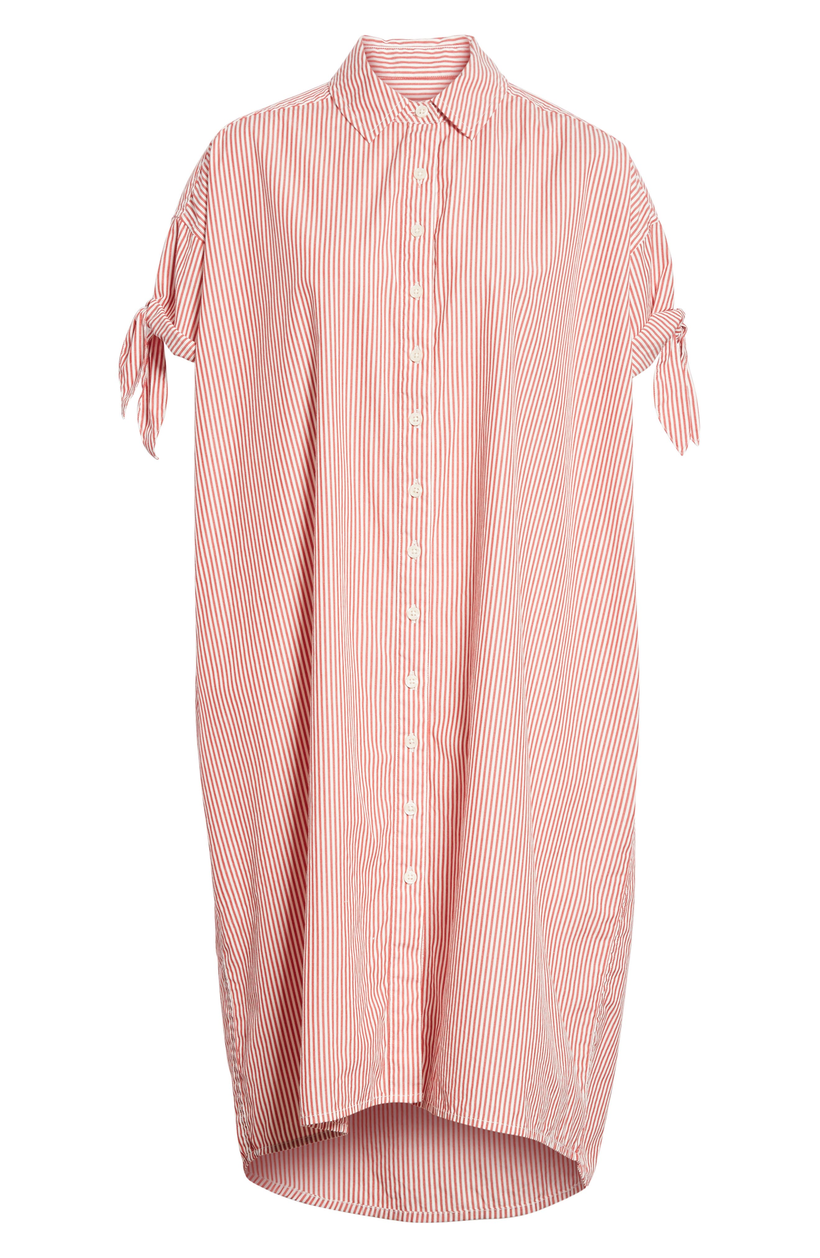 The Tie Sleeve Camper Shirtdress,                             Alternate thumbnail 6, color,                             950