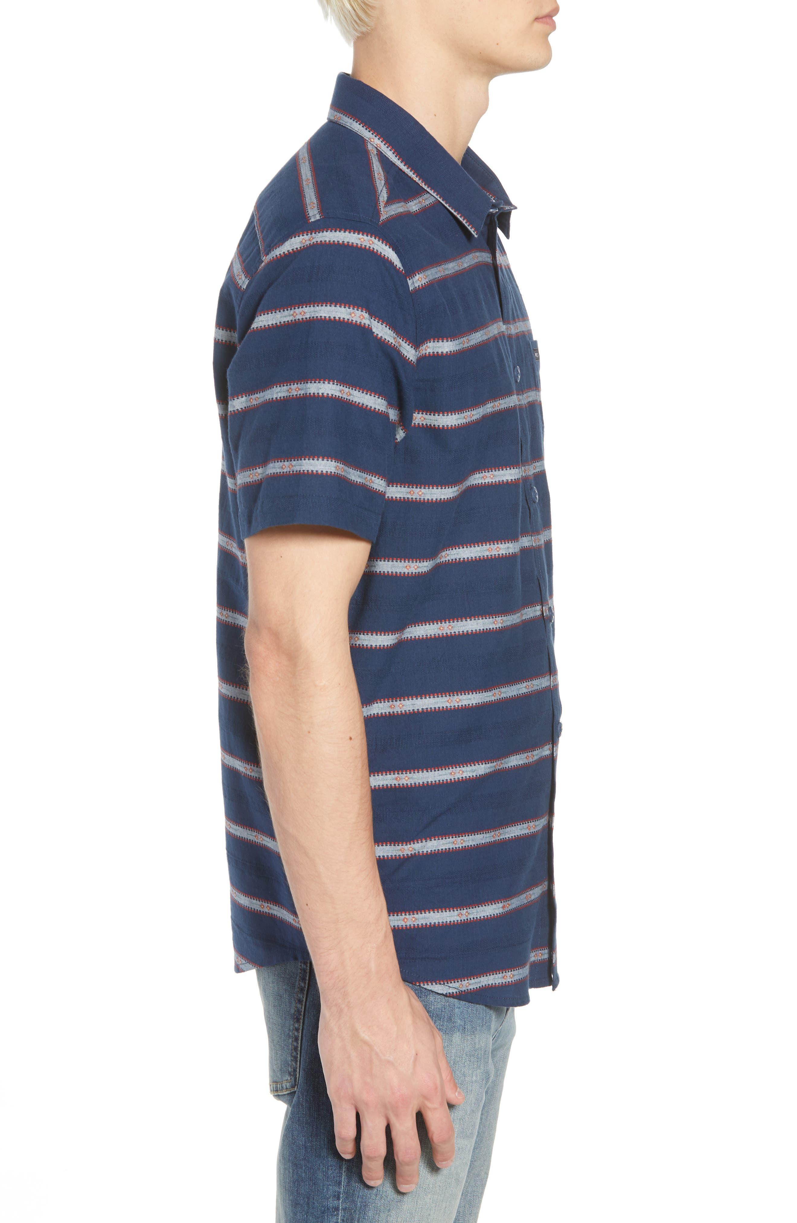 Outer Sunset Woven Shirt,                             Alternate thumbnail 3, color,                             SEATTLE BLUE
