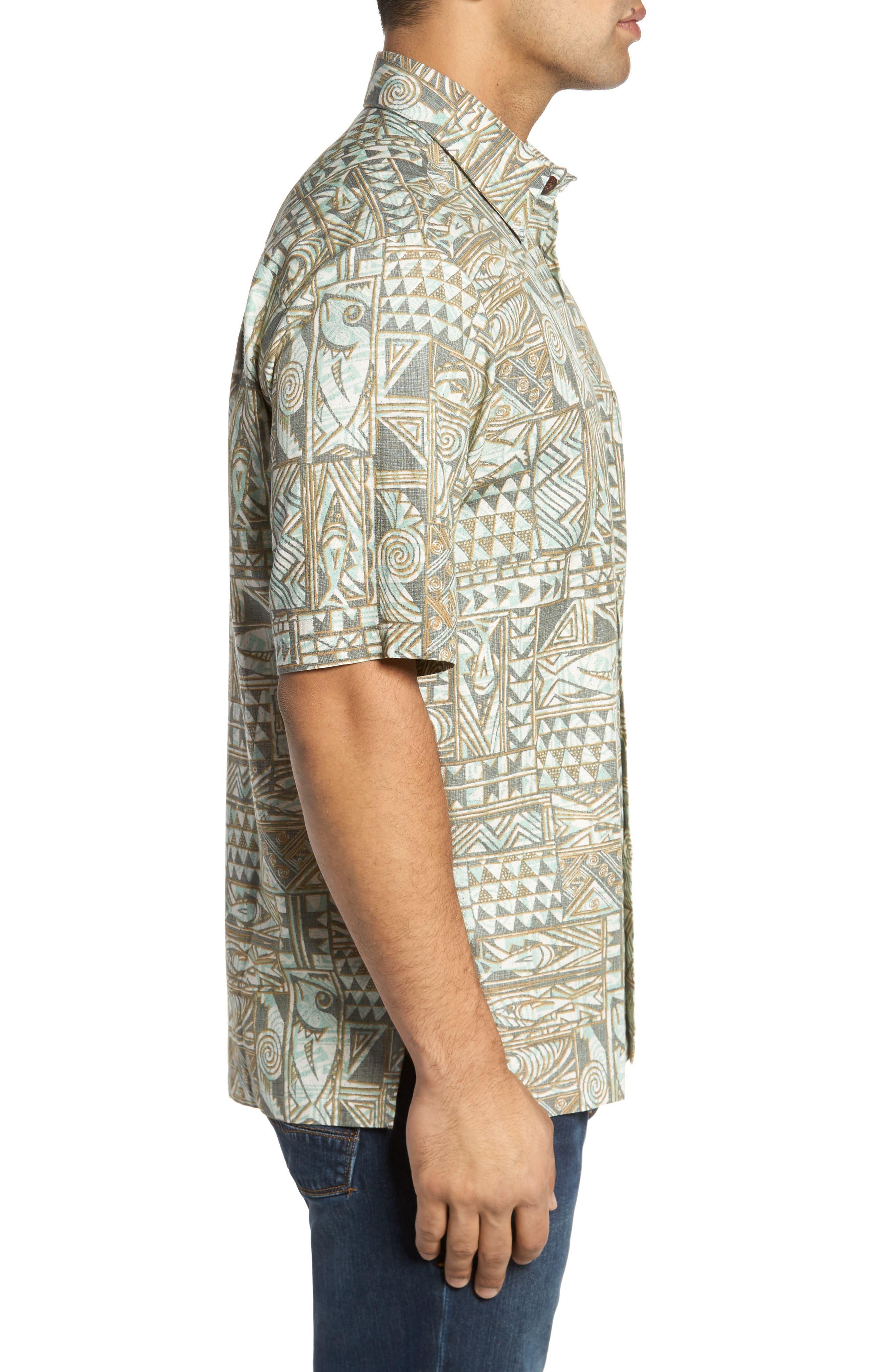 Ehukai Classic Fit Print Sport Shirt,                             Alternate thumbnail 3, color,                             020