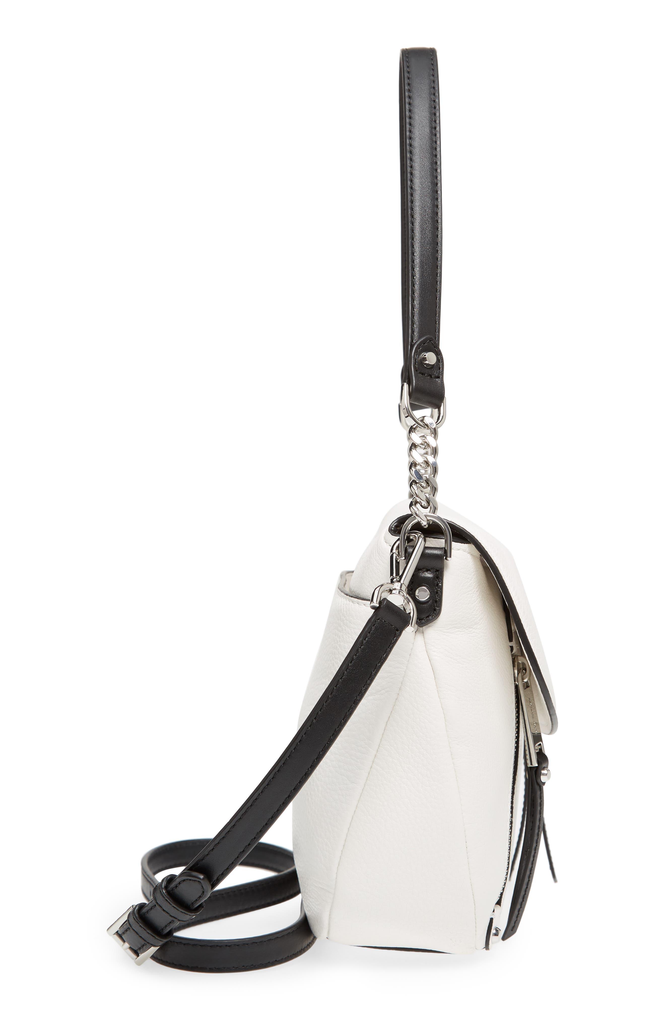 Medium Leather Shoulder Bag,                             Alternate thumbnail 10, color,