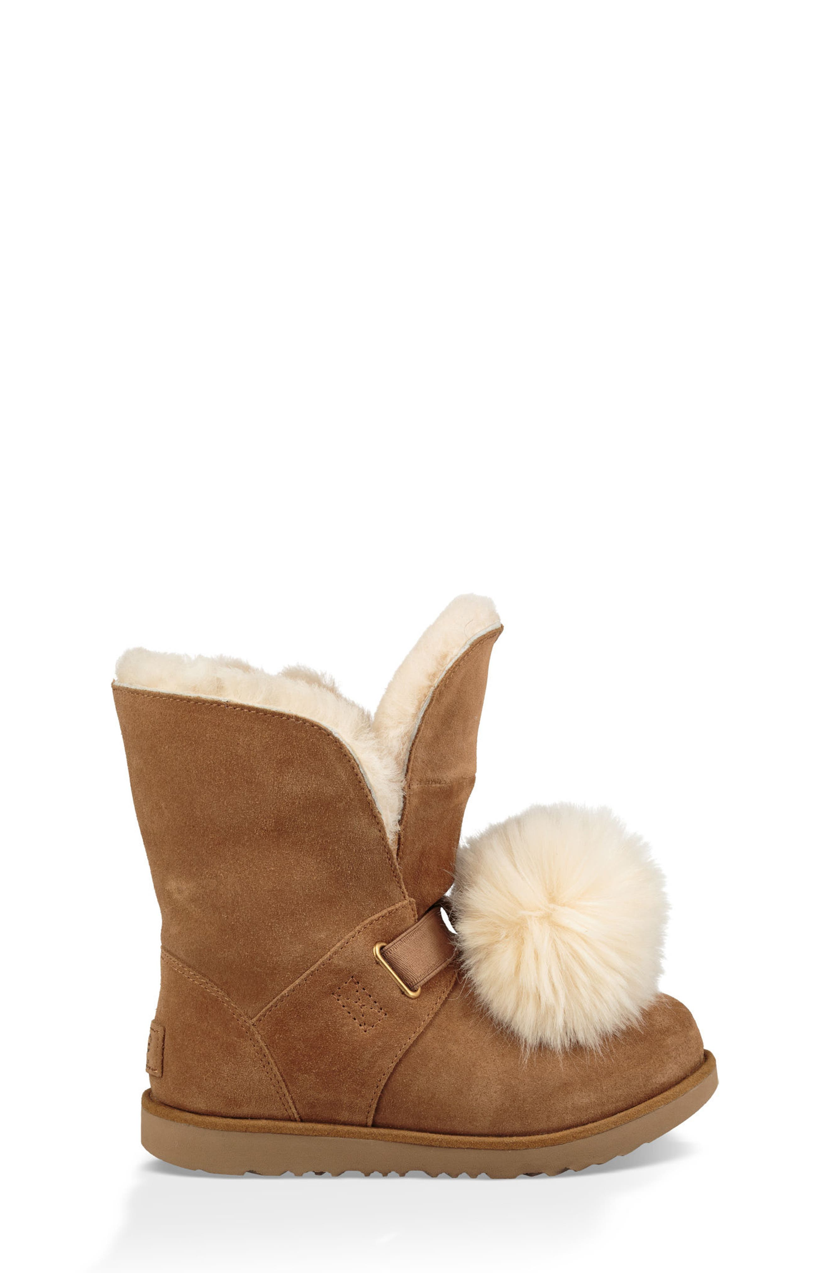 Isley Genuine Shearling Waterproof Pom Boot,                             Alternate thumbnail 3, color,                             219