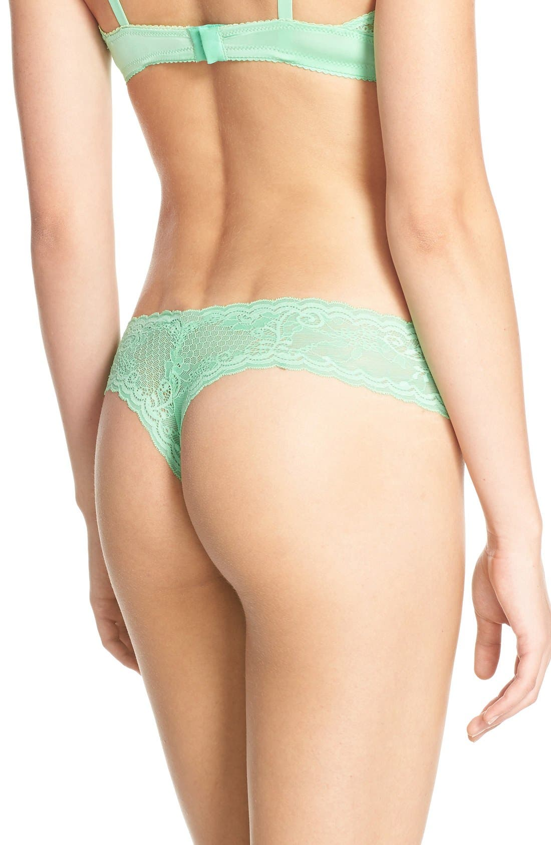 'Trenta' Low Rise Lace Thong,                             Alternate thumbnail 125, color,