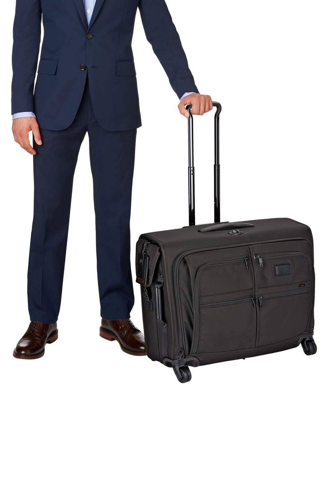 Alpha 2 Medium Trip Wheeled Garment Bag,                             Alternate thumbnail 4, color,                             BLACK
