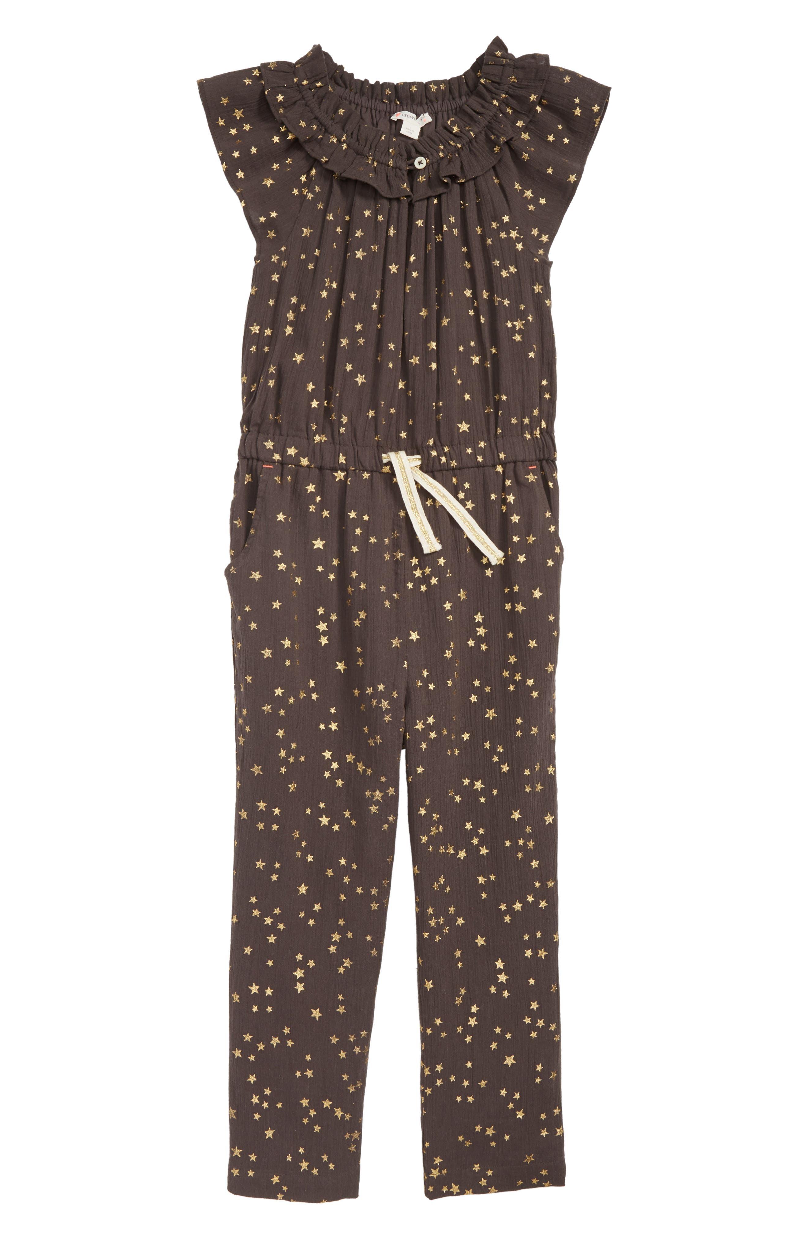 Girls Crewcuts By Jcrew Star Jumpsuit Size 14  Brown