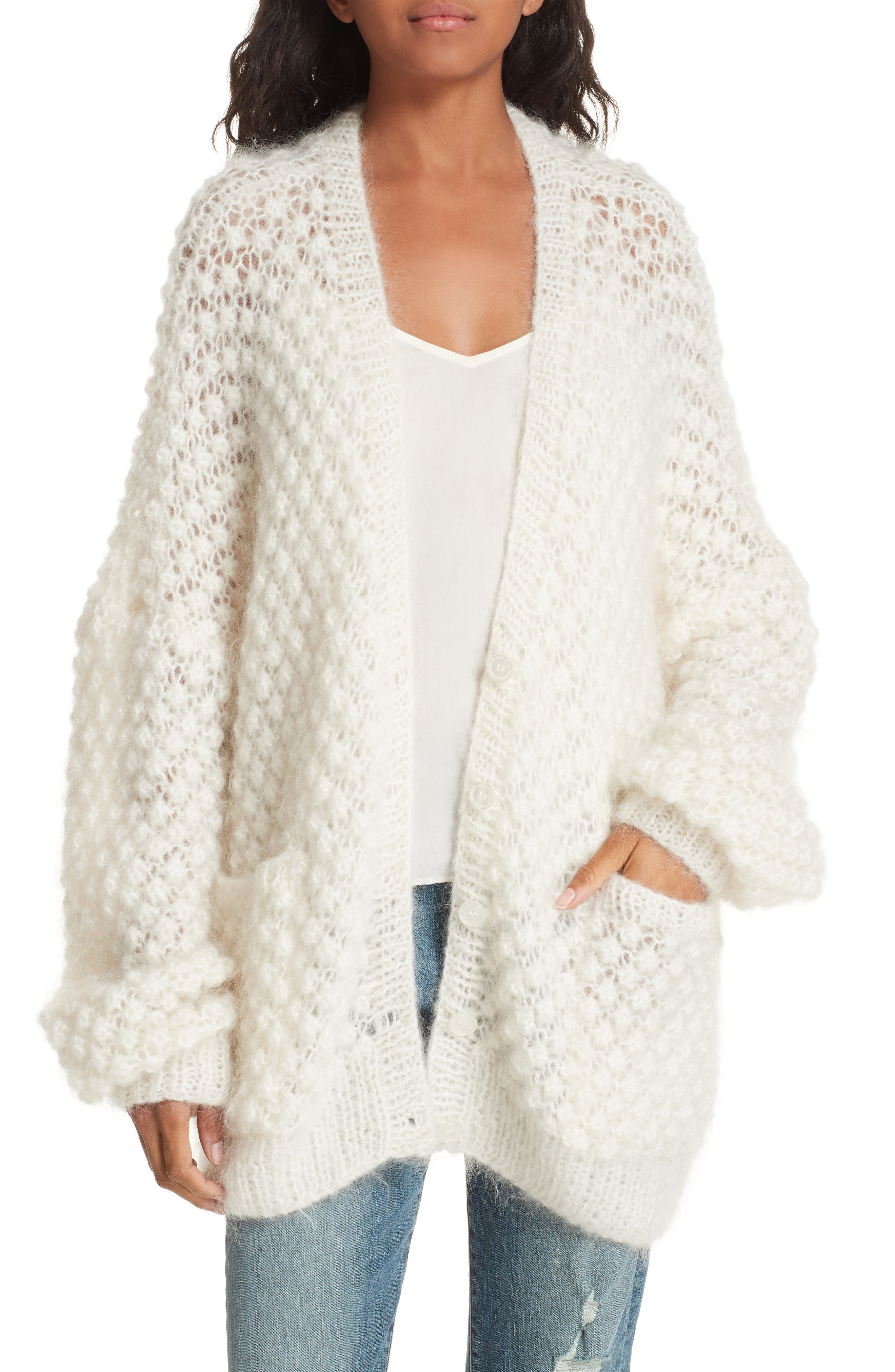 Snow White Knit Cardigan,                         Main,                         color, IVORY