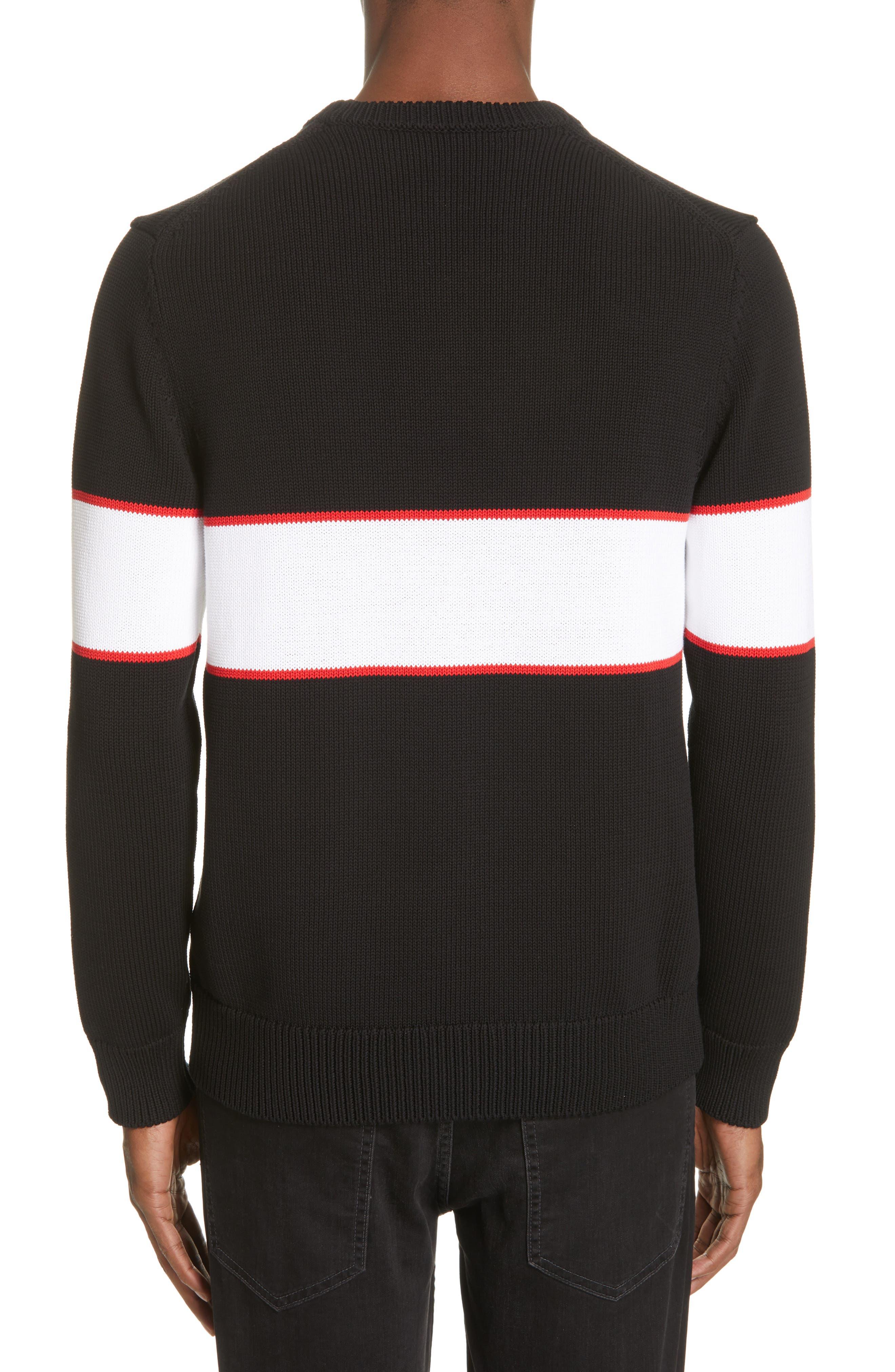 Upside Down Logo Sweater,                             Alternate thumbnail 2, color,                             BLACK