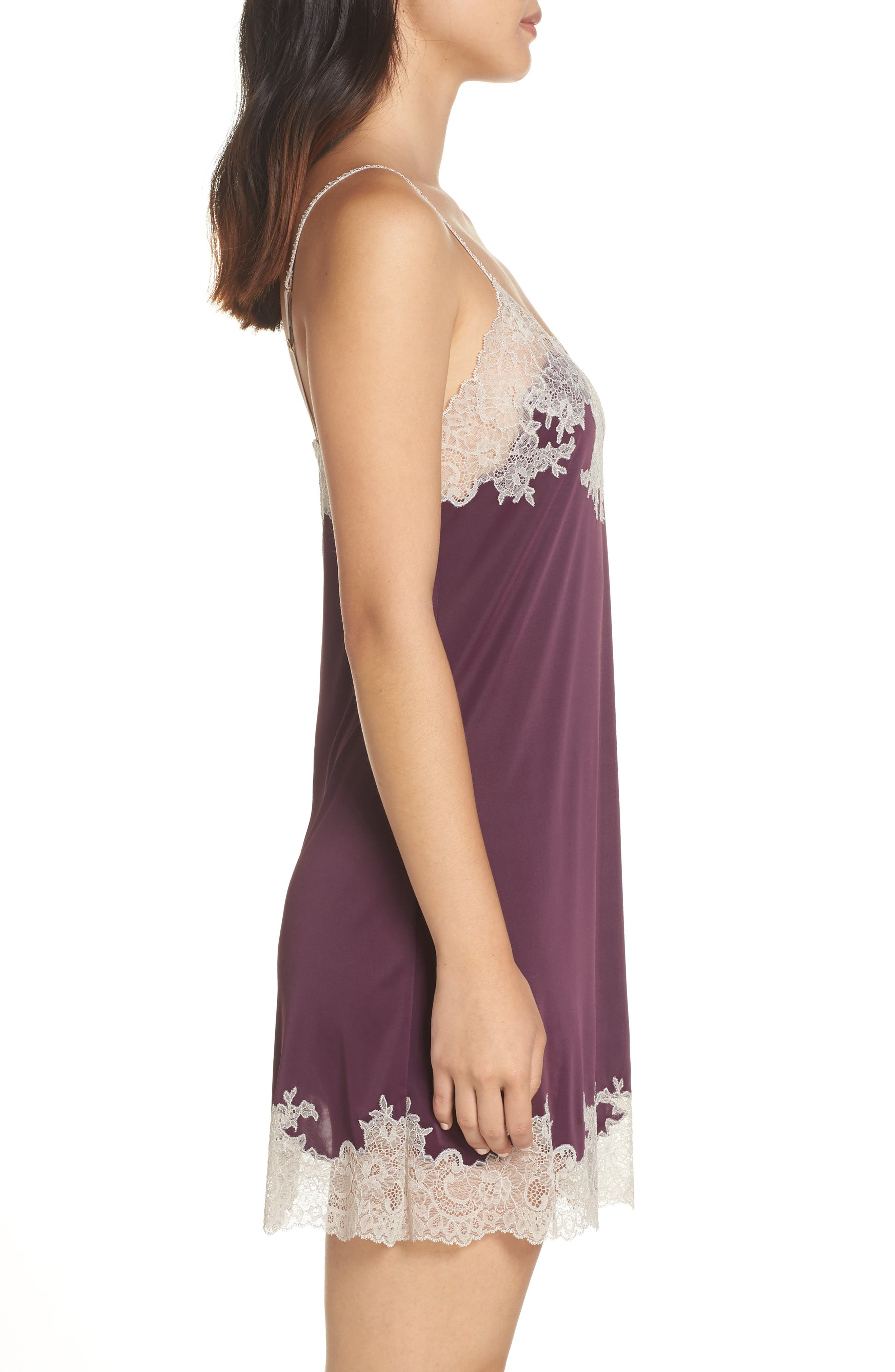 'Enchant' Chemise,                             Alternate thumbnail 3, color,                             PURPLE COCOON