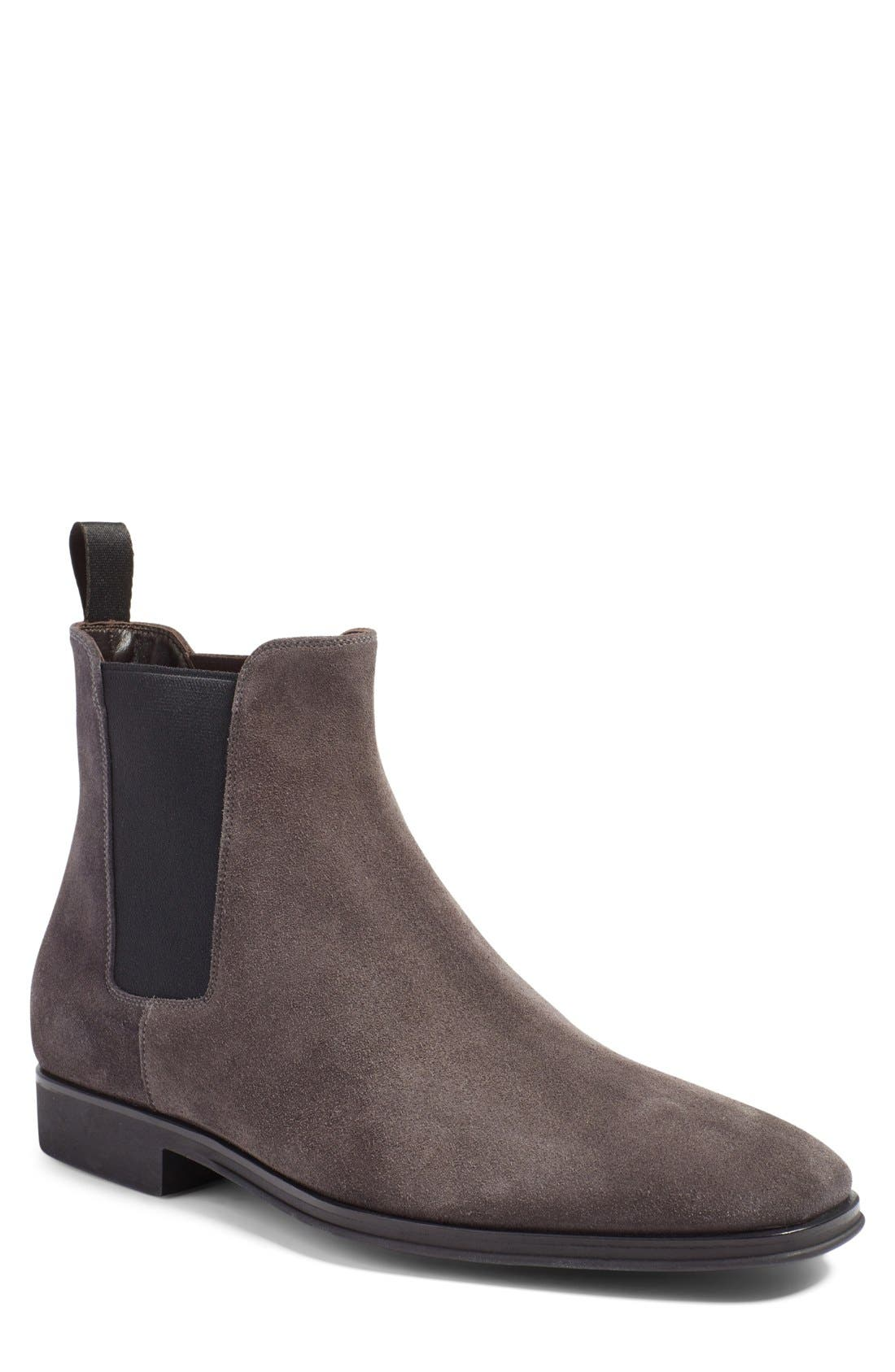 Enrico Chelsea Boot,                         Main,                         color, GREY SUEDE